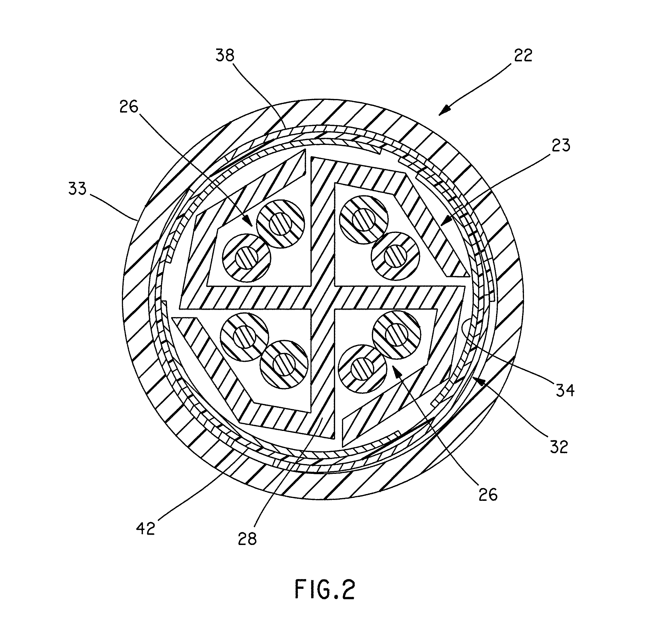 patent us8183462 munication cable with improved crosstalk Ribbon Cable Connector Male Female patent drawing