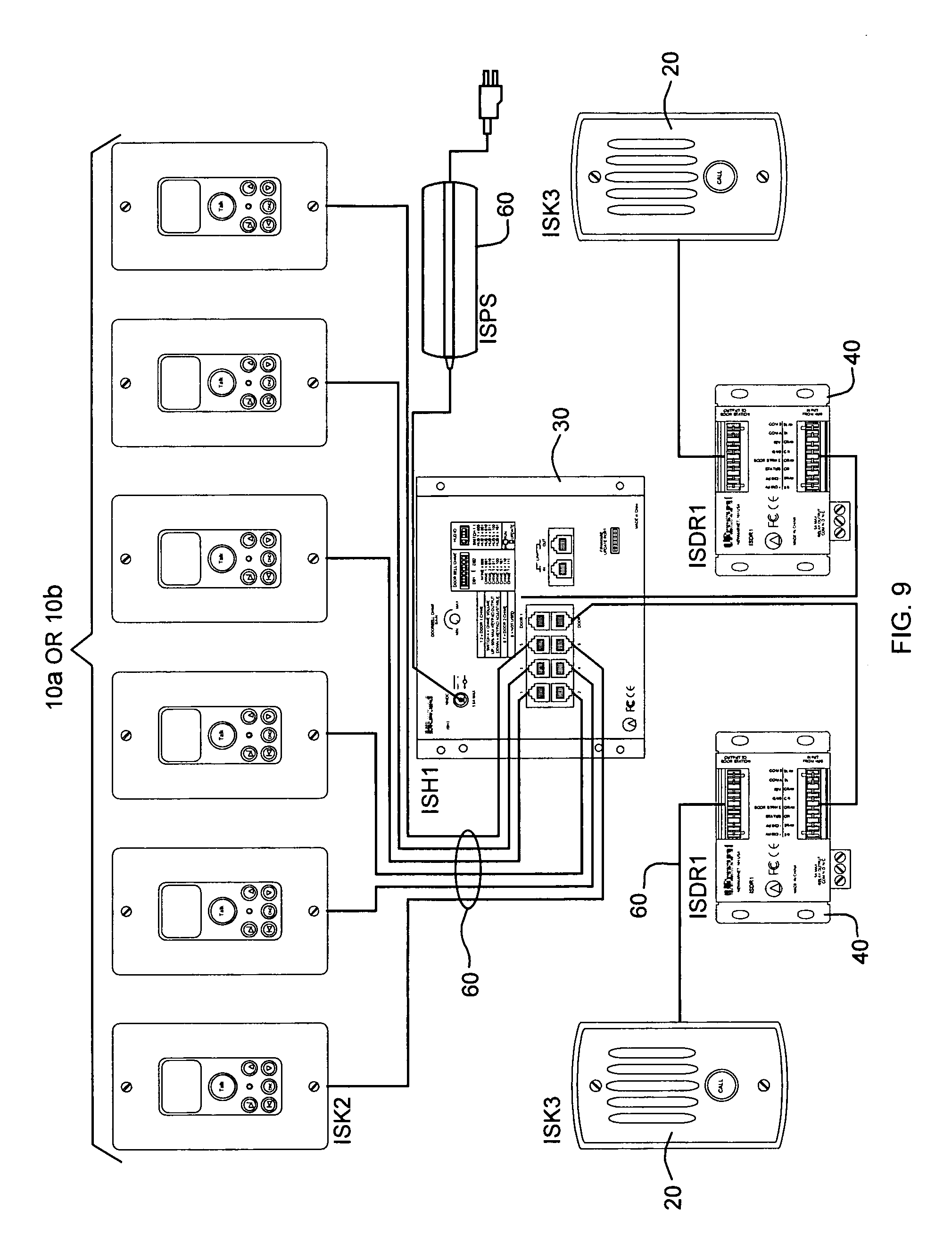 patent us8189753 distributed intercom system audio bus patent drawing