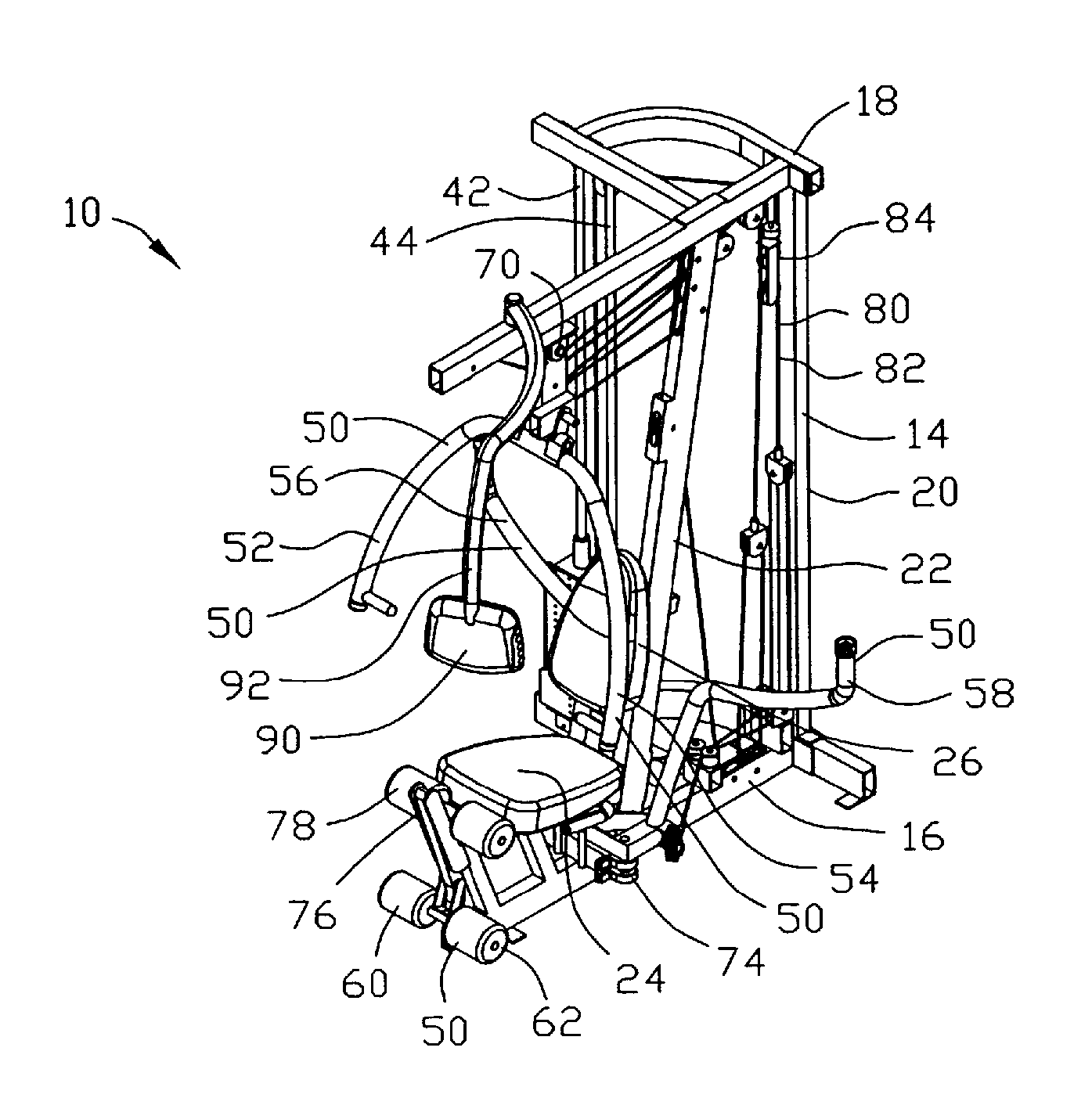 patent us8197389 exercising apparatus patents Stair Lift Diagram patent drawing