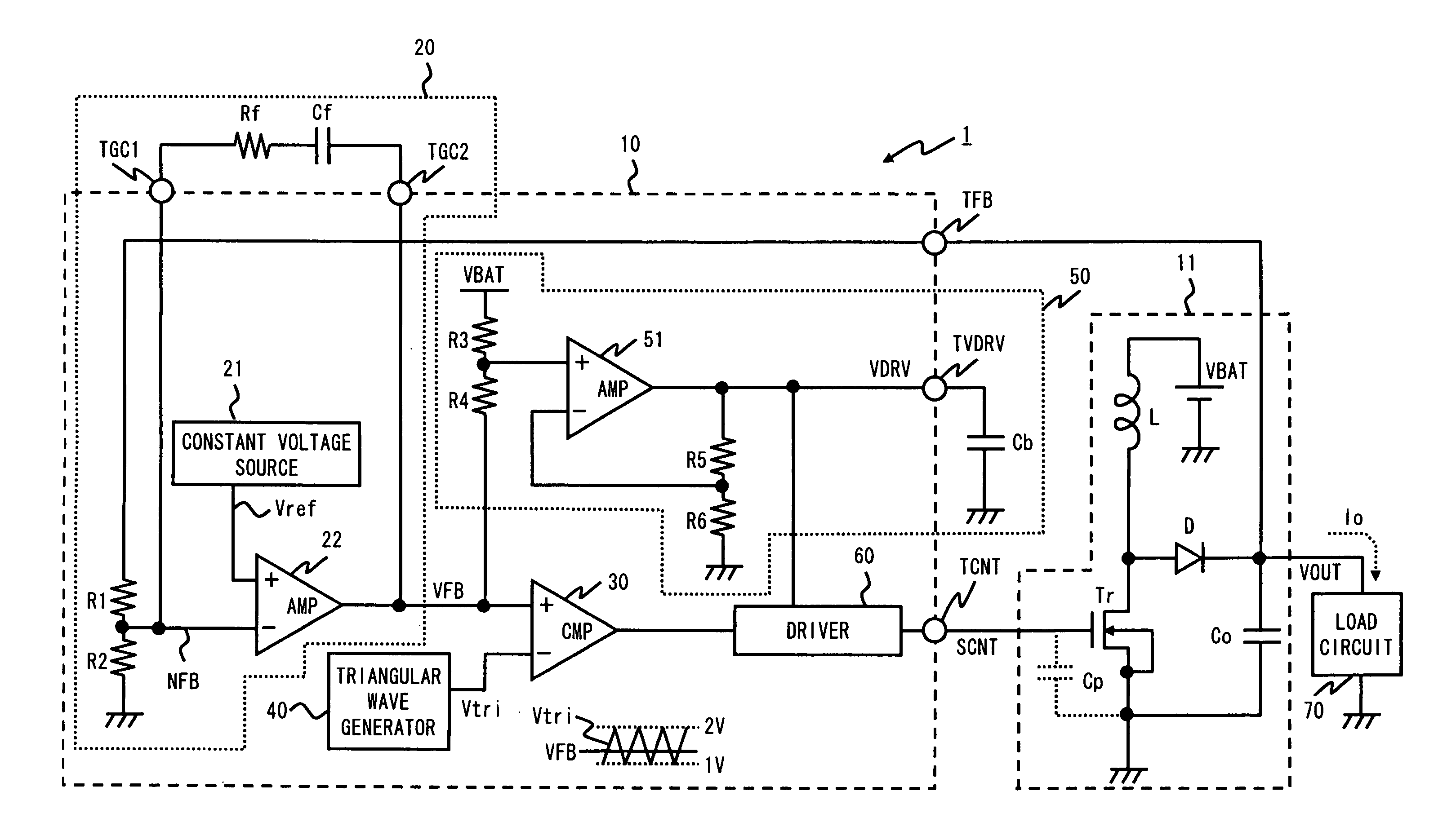 Brevet Us8198879 Booster Circuit And Pwm Signal Generator Google Following Is The Schematic Of Voltage Controlled Patent Drawing