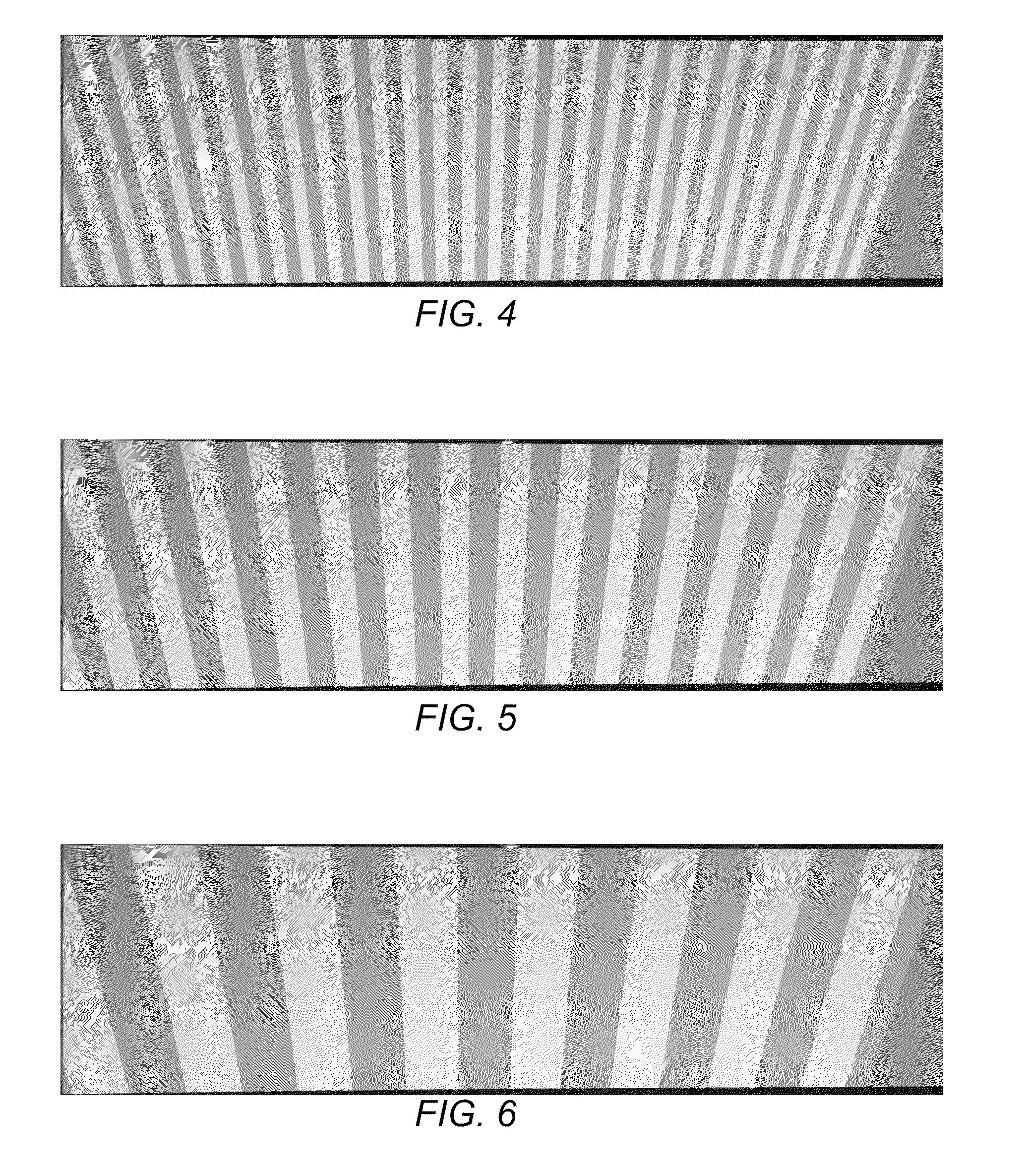 Vertical lines stripes 4 pixel line width 8 pixel line spacing grey - Patent Drawing