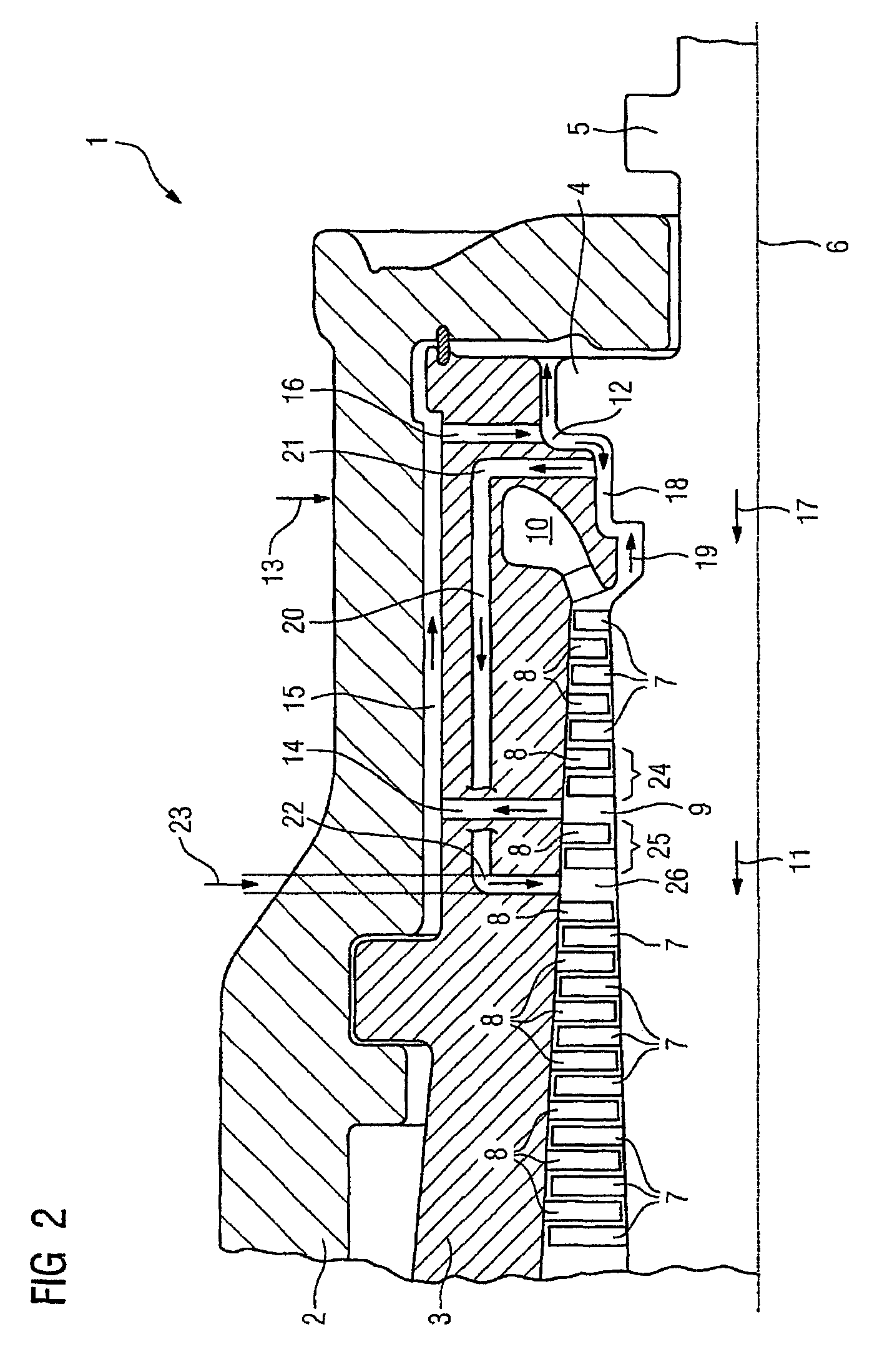 Patent US Steam turbine and method for operation of a