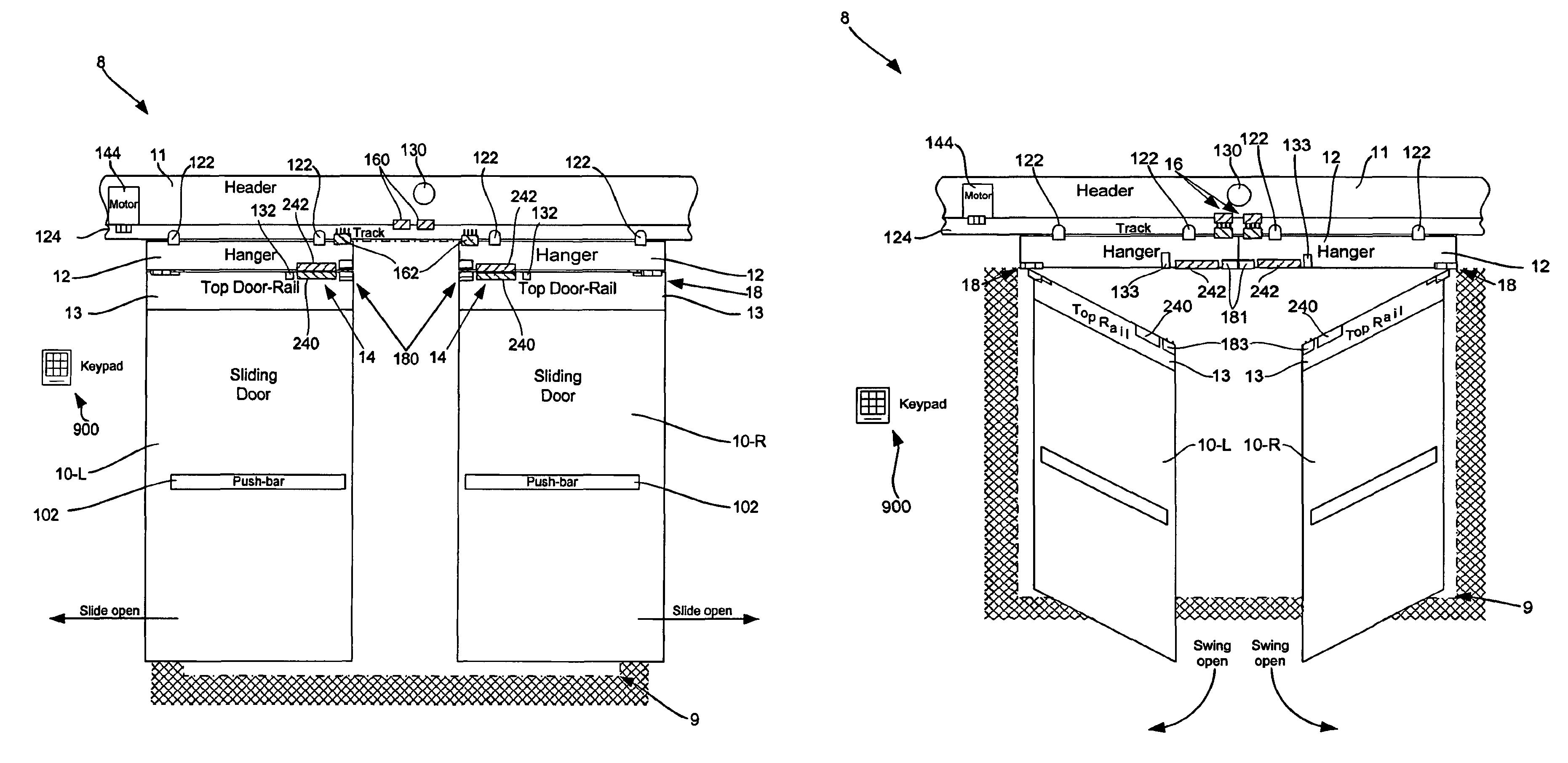 Patent Drawing  sc 1 st  Google & Patent US8205387 - Delayed egress sliding door and method - Google ... pezcame.com