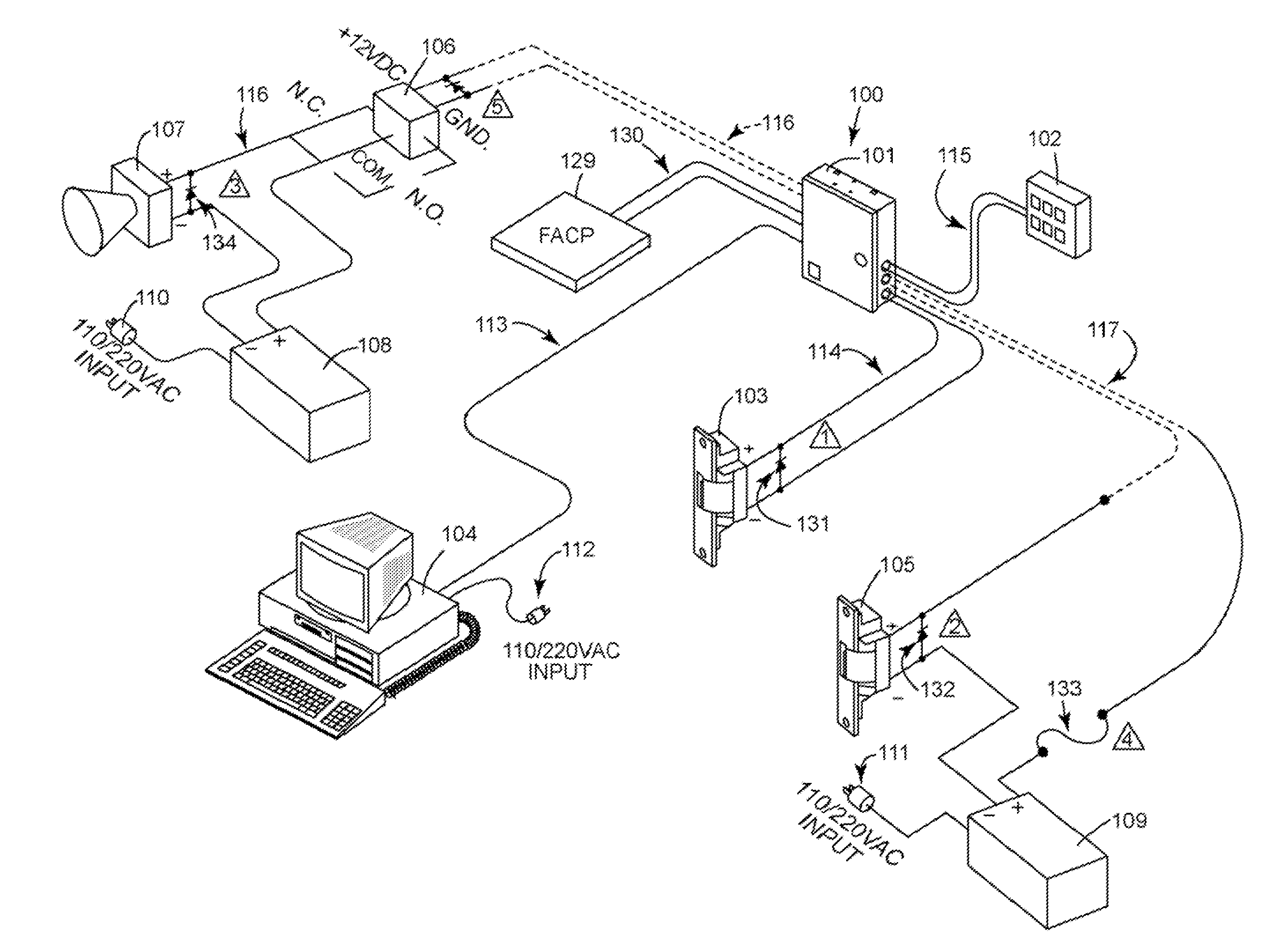 US08207814 20120626 D00000 patent us8207814 kit and system for providing security access to,Fire Alarm Circuit Wiring