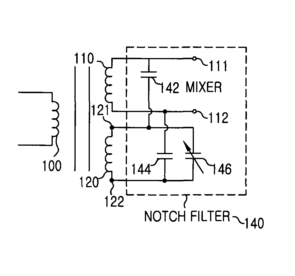 Patent Us8208887 Receiving Circuit Including Balun And Notch Filter Diagram Drawing