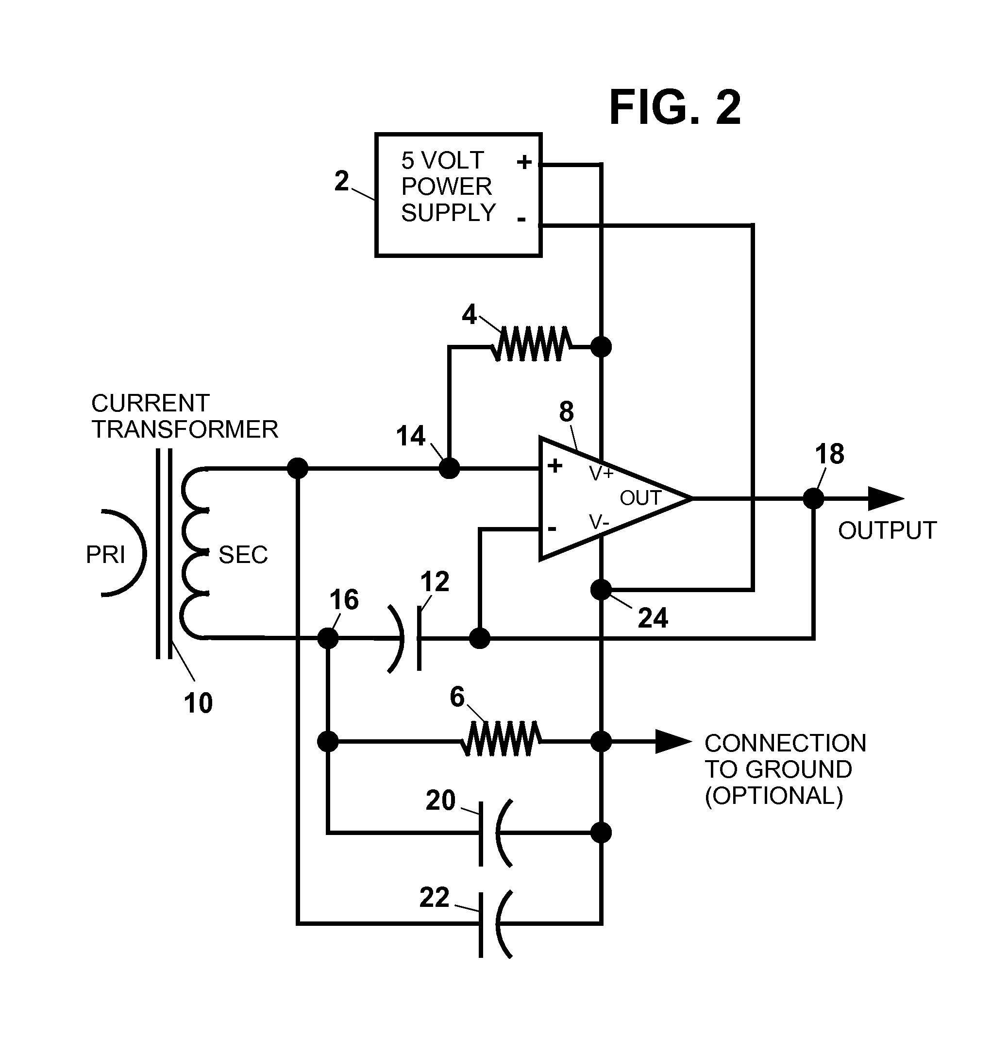 patent us8212570 - amplifier circuit for a current transformer