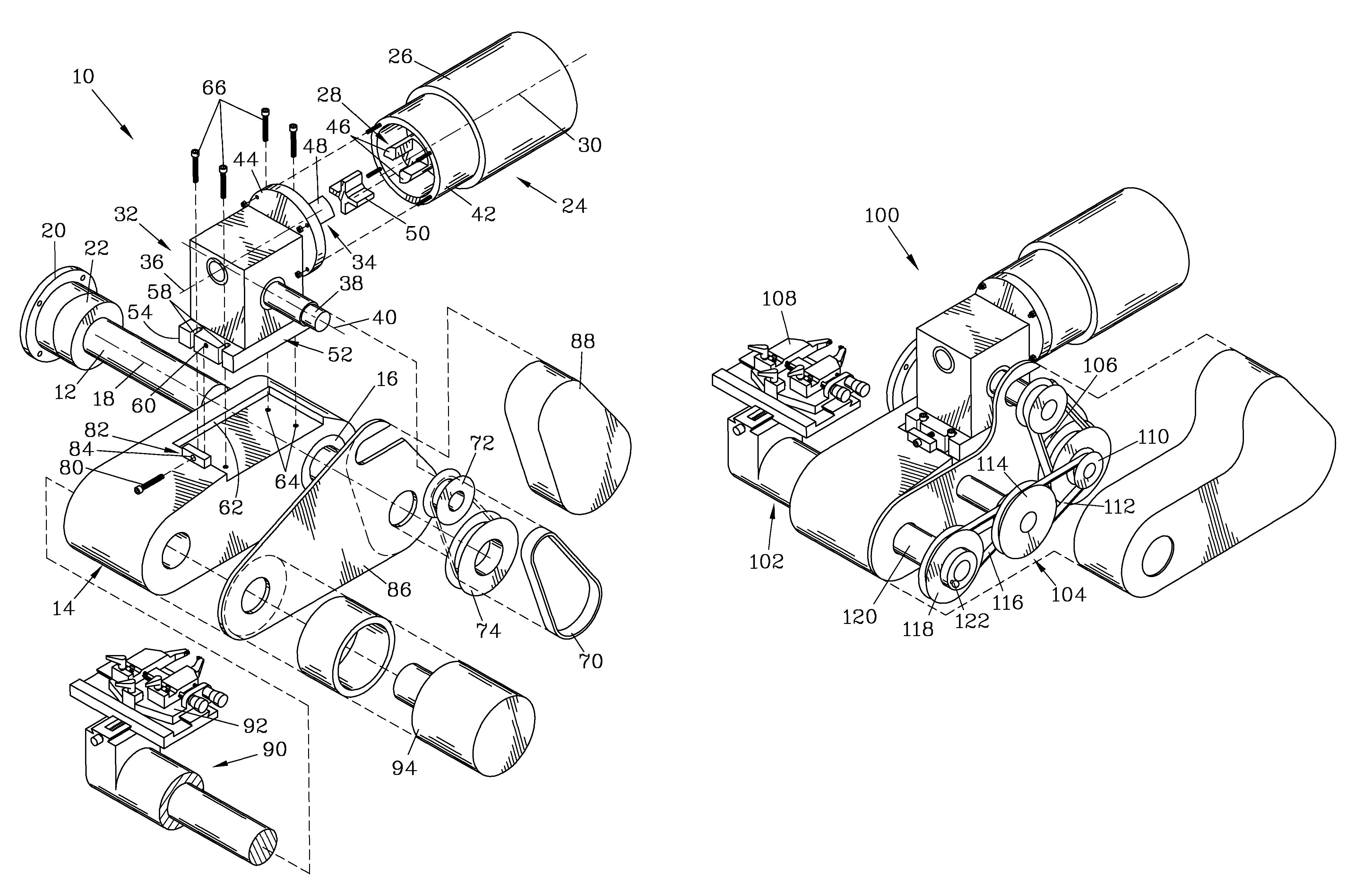 Patent US8215212 - On-vehicle brake lathe with indirect drive ...