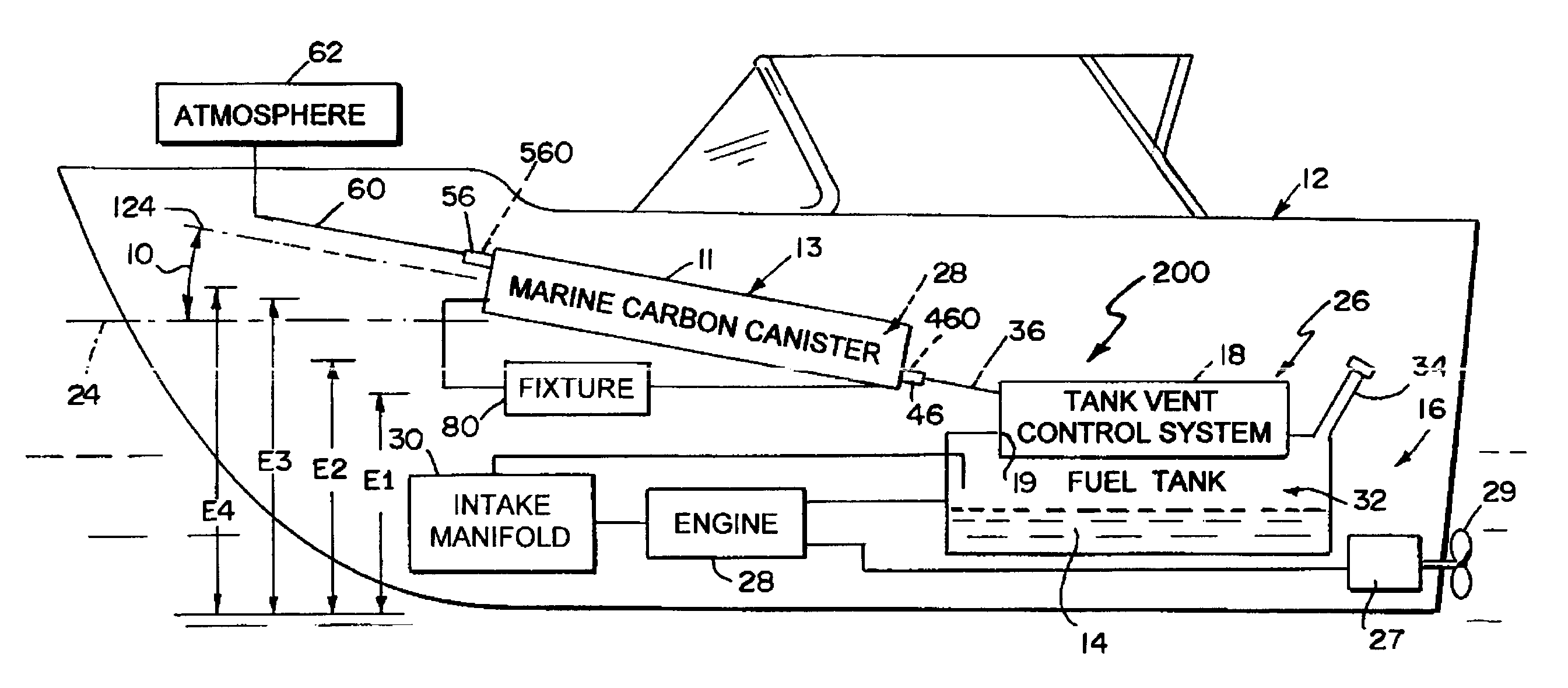 Patent Us8215290 Marine Carbon Canister Google Patents