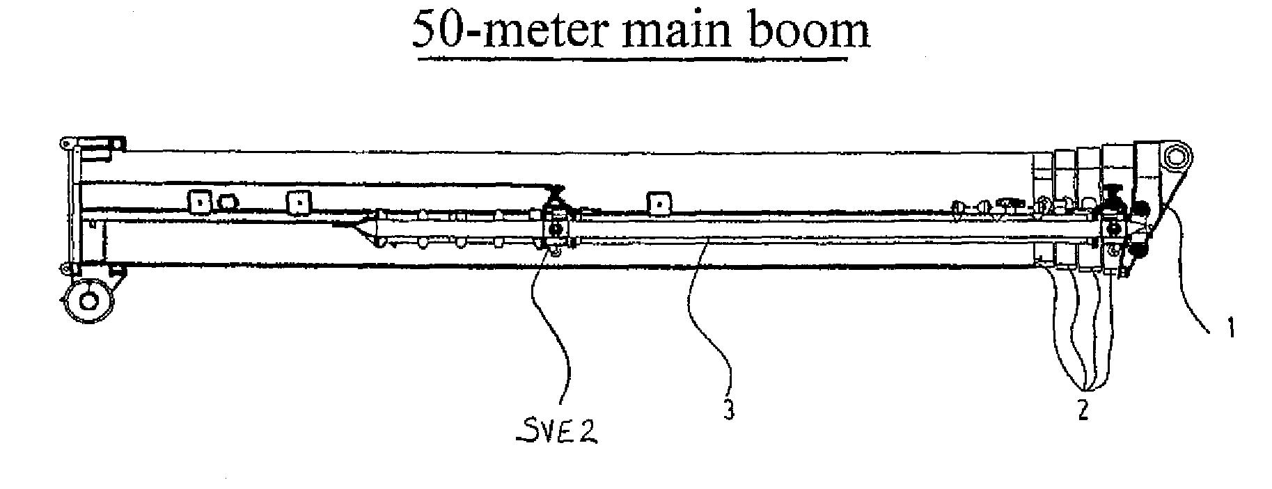 Telescopic Crane Components : Patent us crane with telescopic boom google patents