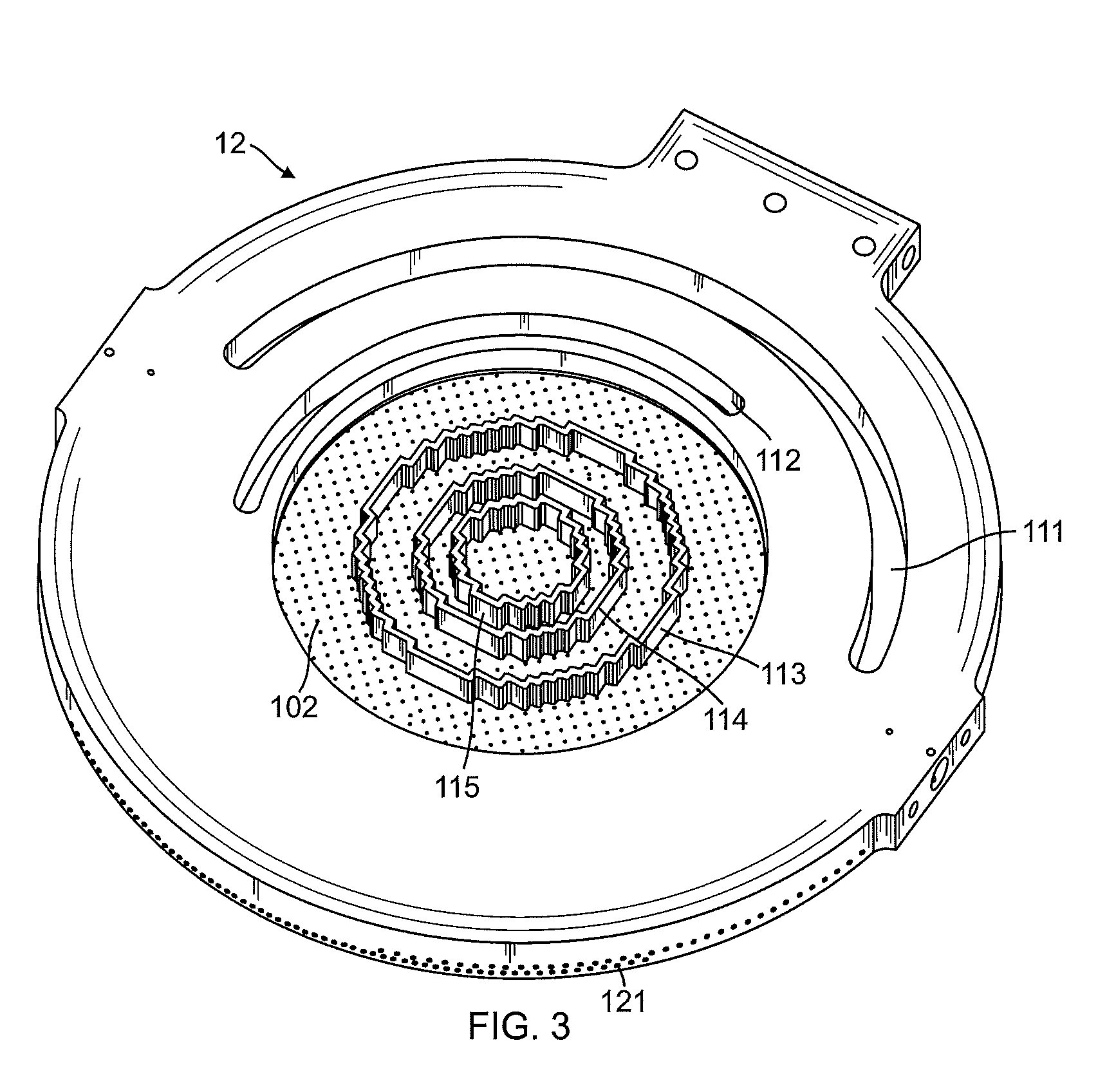 patent us8216419 - drilled cvd shower head - google patents