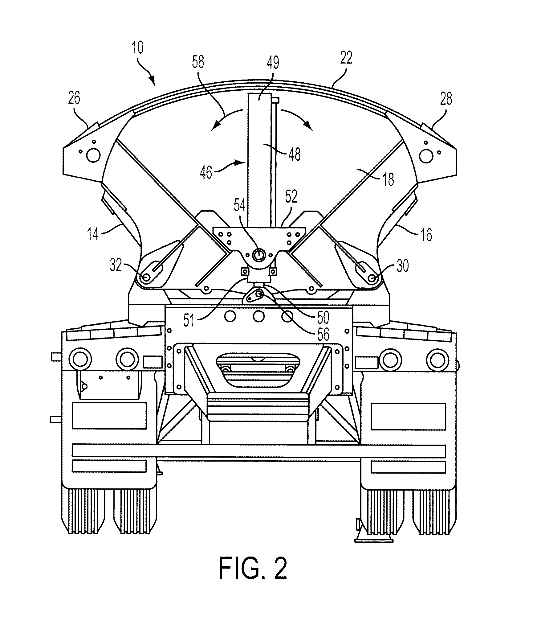 US08220874 20120717 D00002 patent us8220874 dump device for side dump trailer google patents jet side dump trailer wiring diagram at edmiracle.co