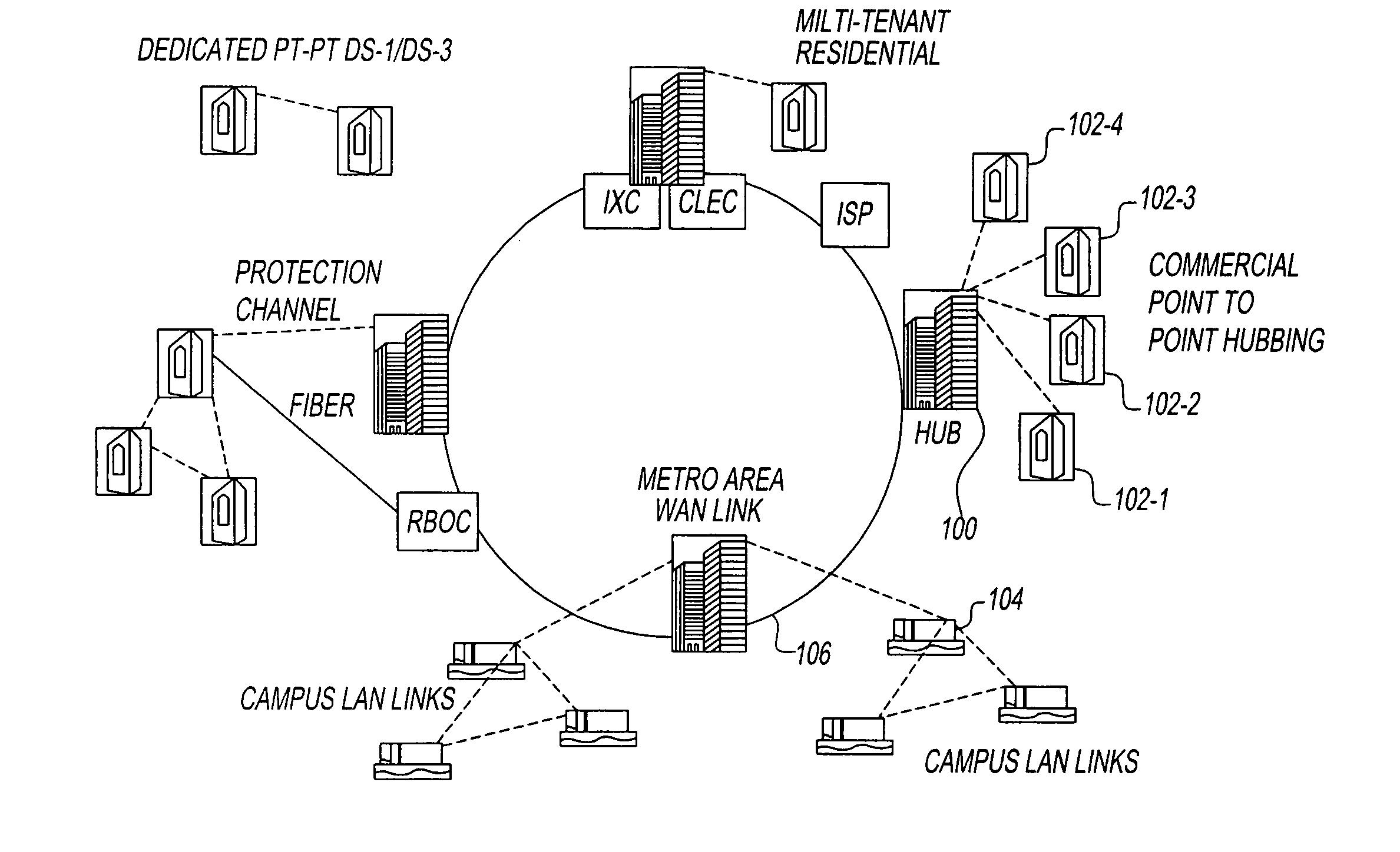 patent us8223726 - metropolitan wide area network