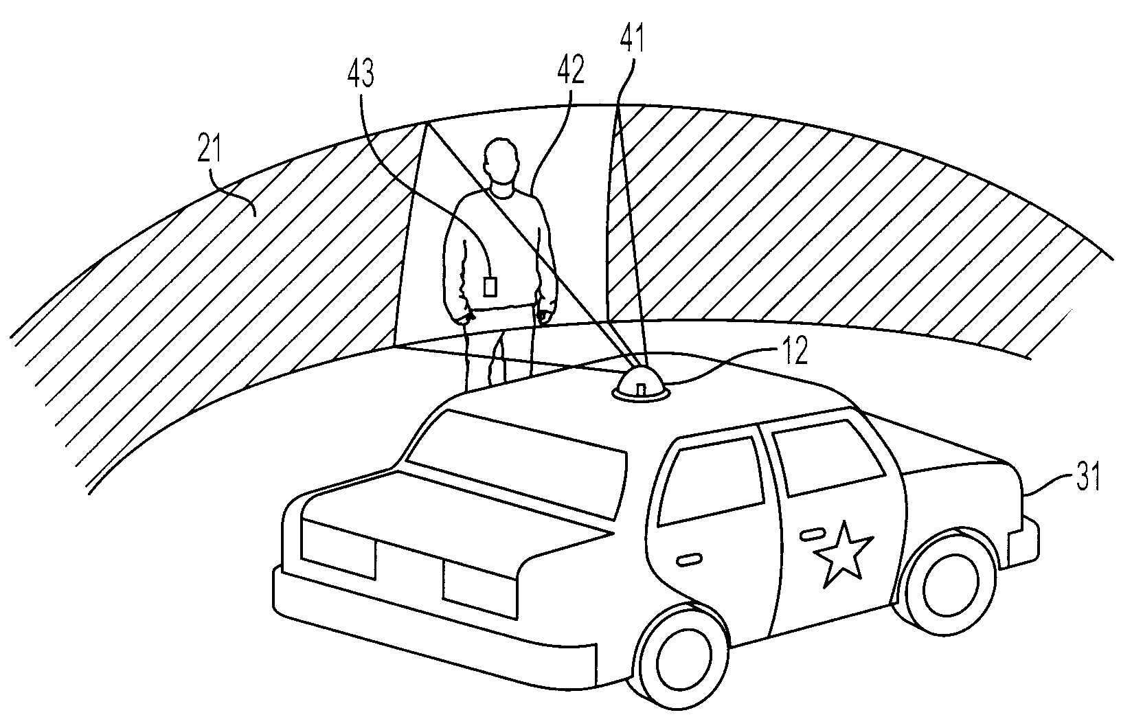 Patent US8228364 - Omnidirectional camera for use in police car ...