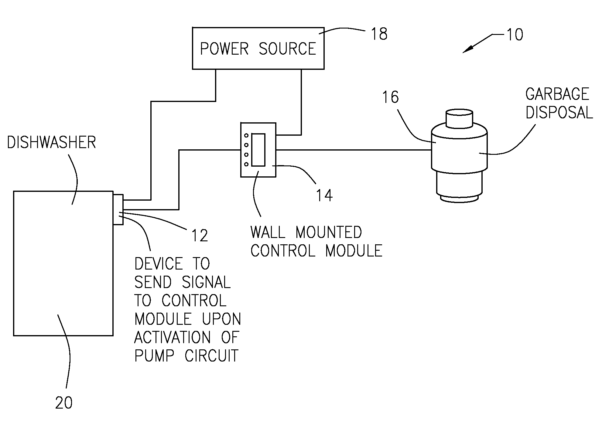 US08240585 20120814 D00000 patent us8240585 dishwasher controlled garbage disposal google wiring diagram for dishwasher and garbage disposal at bayanpartner.co