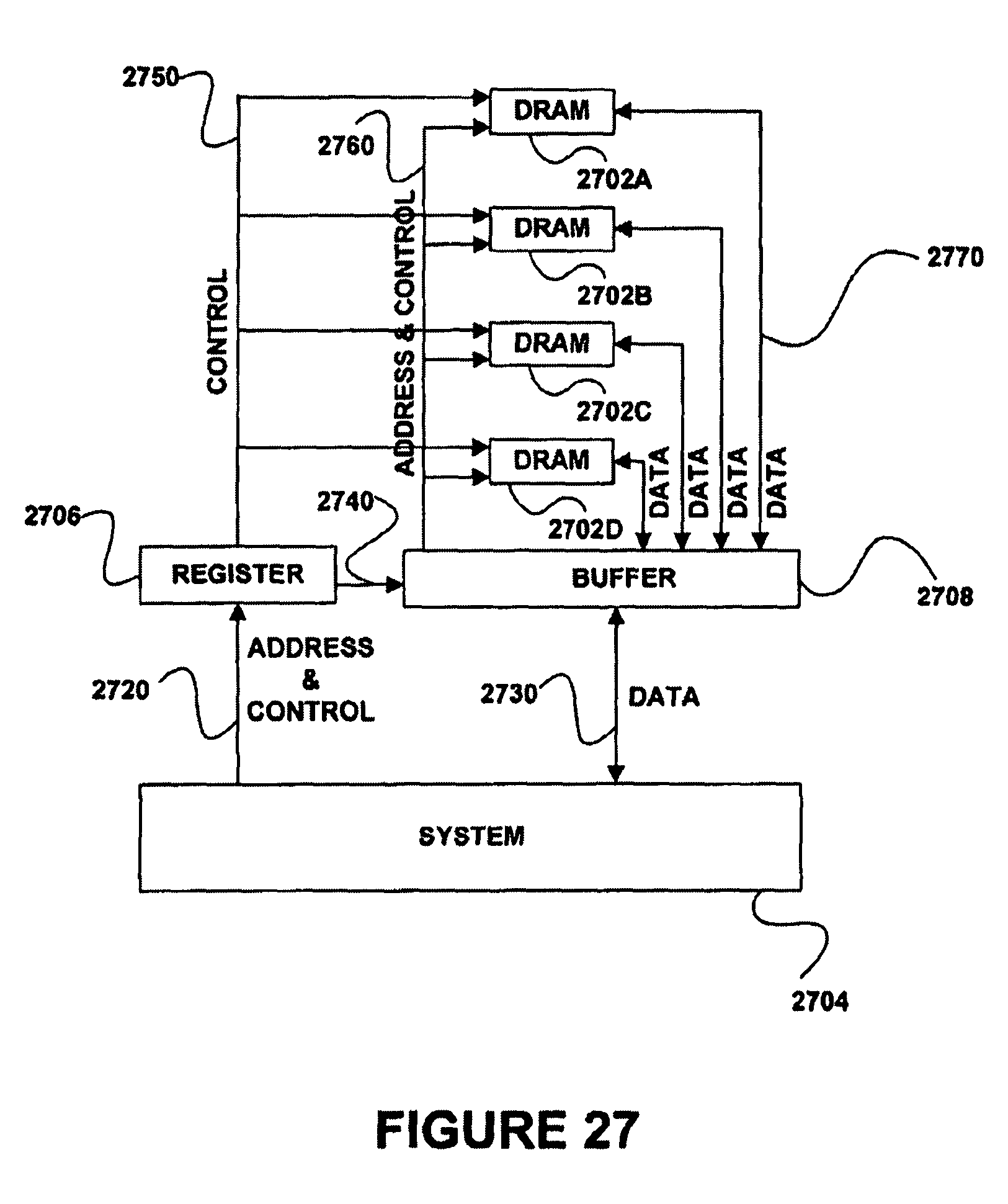 patent us8244971 - memory circuit system and method