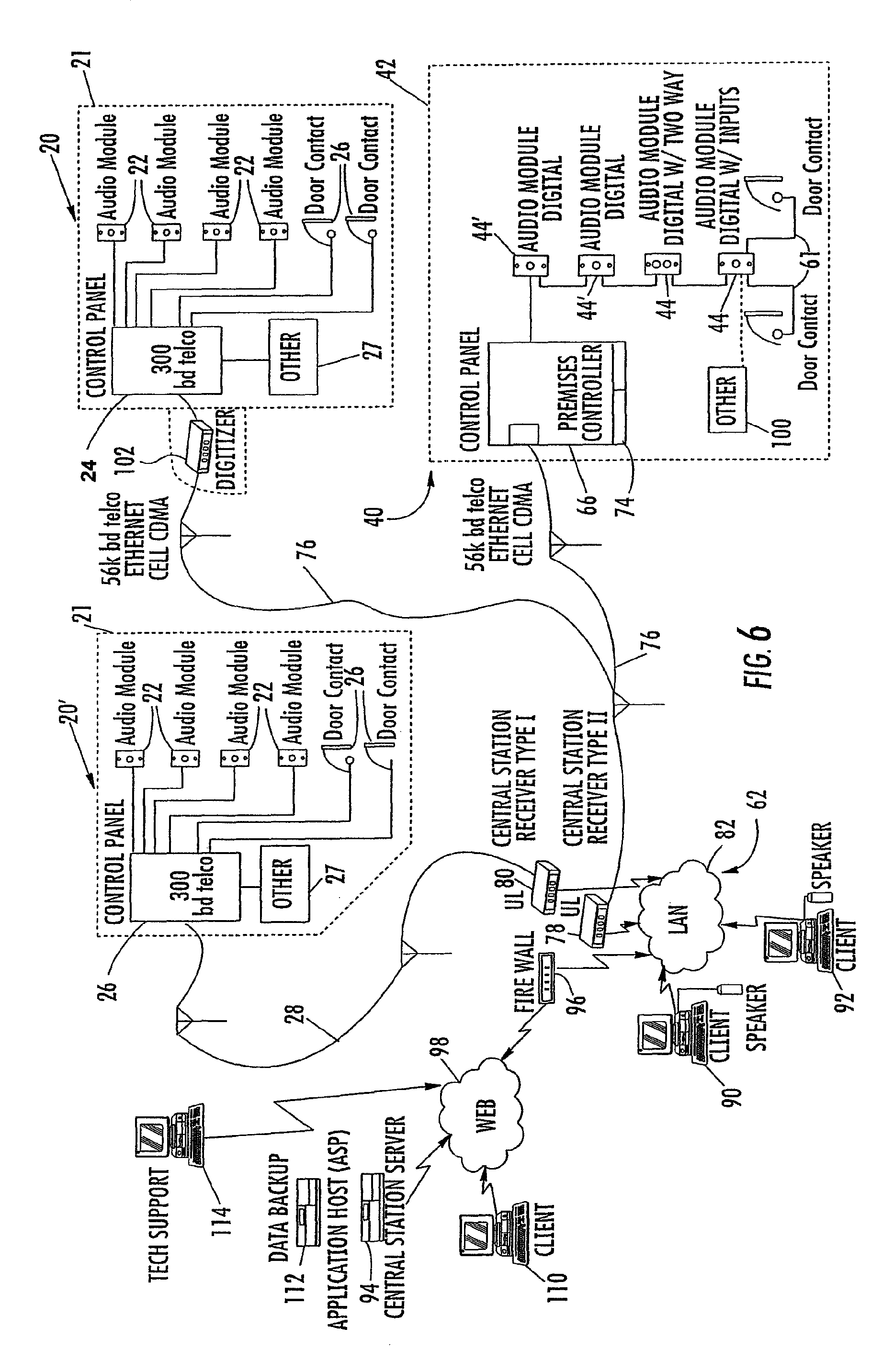 US08248226 20120821 D00007 patent us8248226 system and method for monitoring security at a sonitrol alarm wiring diagram at bakdesigns.co