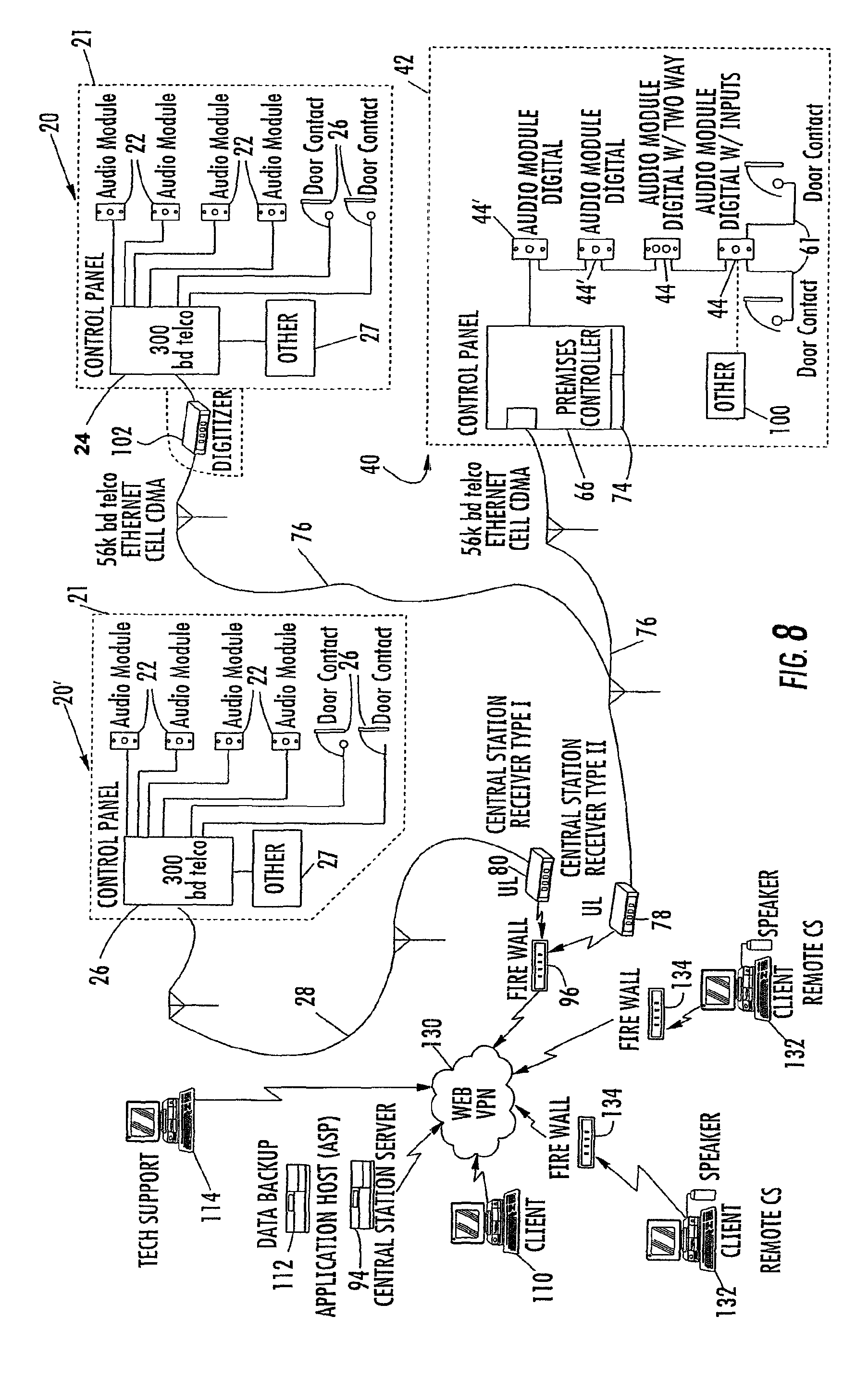 US08248226 20120821 D00009 patent us8248226 system and method for monitoring security at a sonitrol alarm wiring diagram at nearapp.co