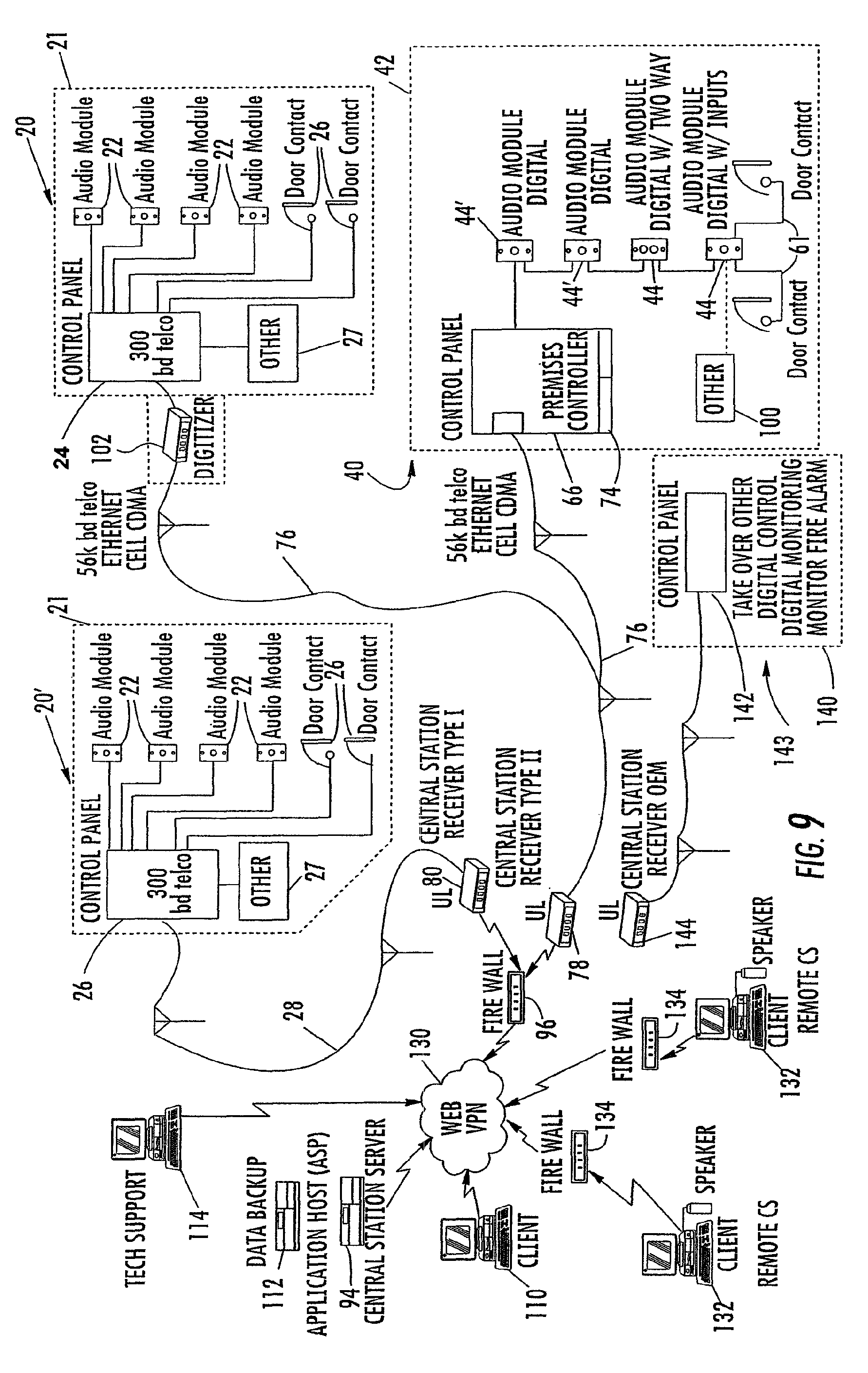US08248226 20120821 D00010 patent us8248226 system and method for monitoring security at a sonitrol alarm wiring diagram at bakdesigns.co