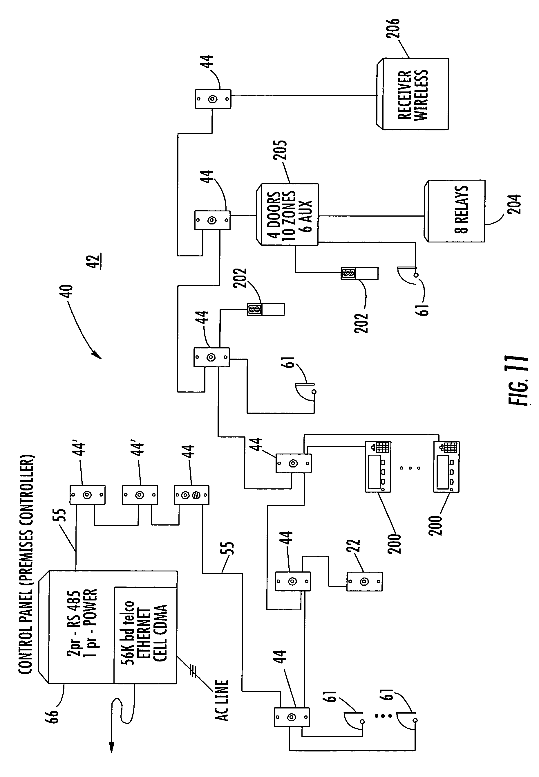 US08248226 20120821 D00012 patent us8248226 system and method for monitoring security at a sonitrol alarm wiring diagram at bakdesigns.co