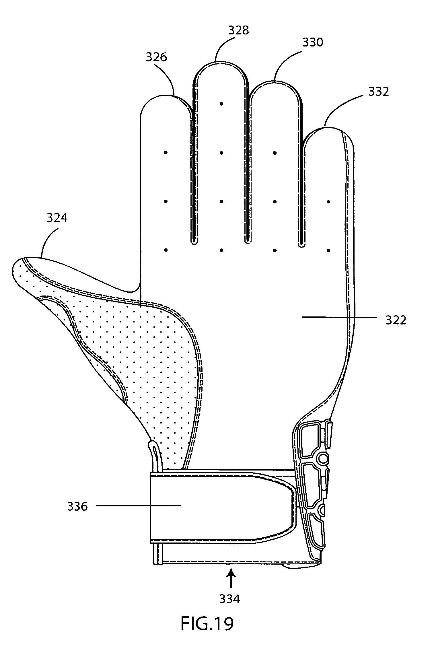 Left Handed Baseball Glove Drawing Baseball batting gloves