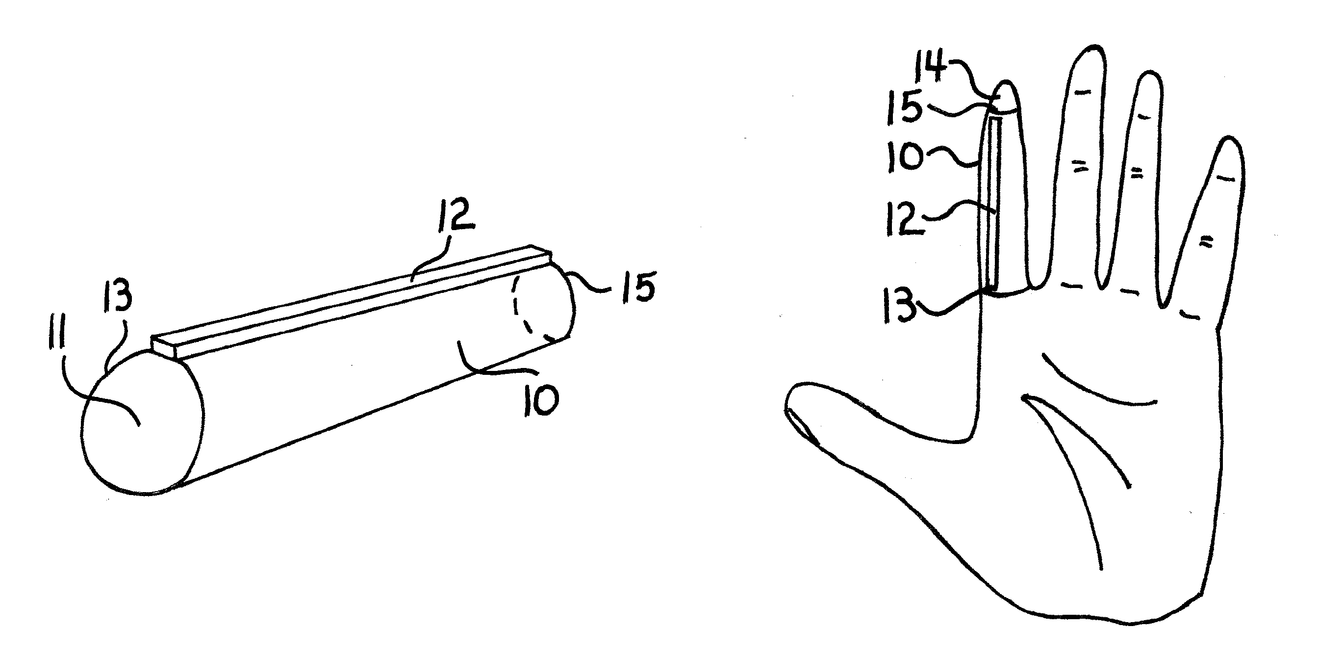 Patent us8269084 finger sleeve with raised flexible bar for patent drawing hexwebz Choice Image