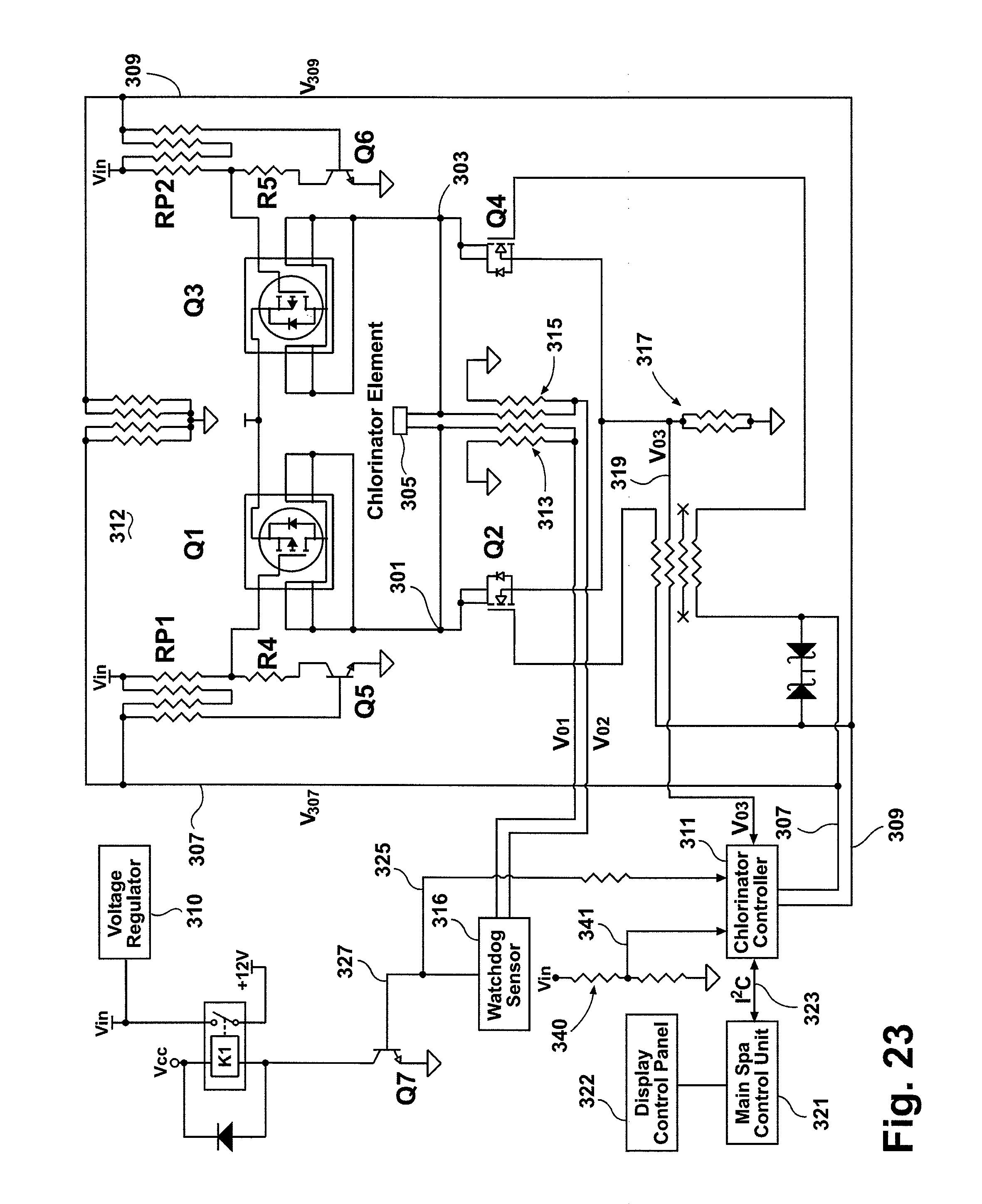 US08273254 20120925 D00009 patent us8273254 spa water sanitizing system google patents hot spring spa wiring diagram at bakdesigns.co