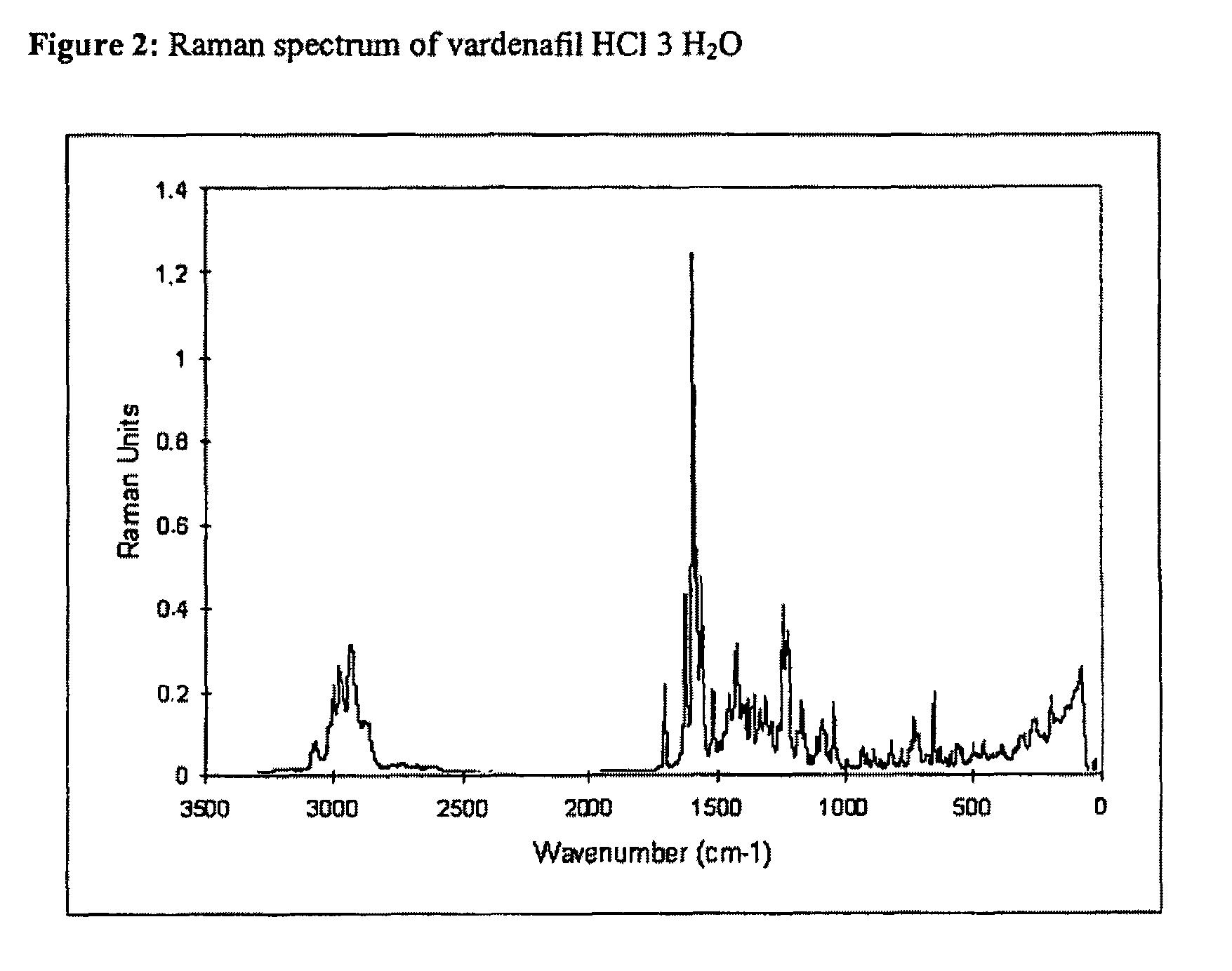 Vardenafil Hydrochloride Trihydrate
