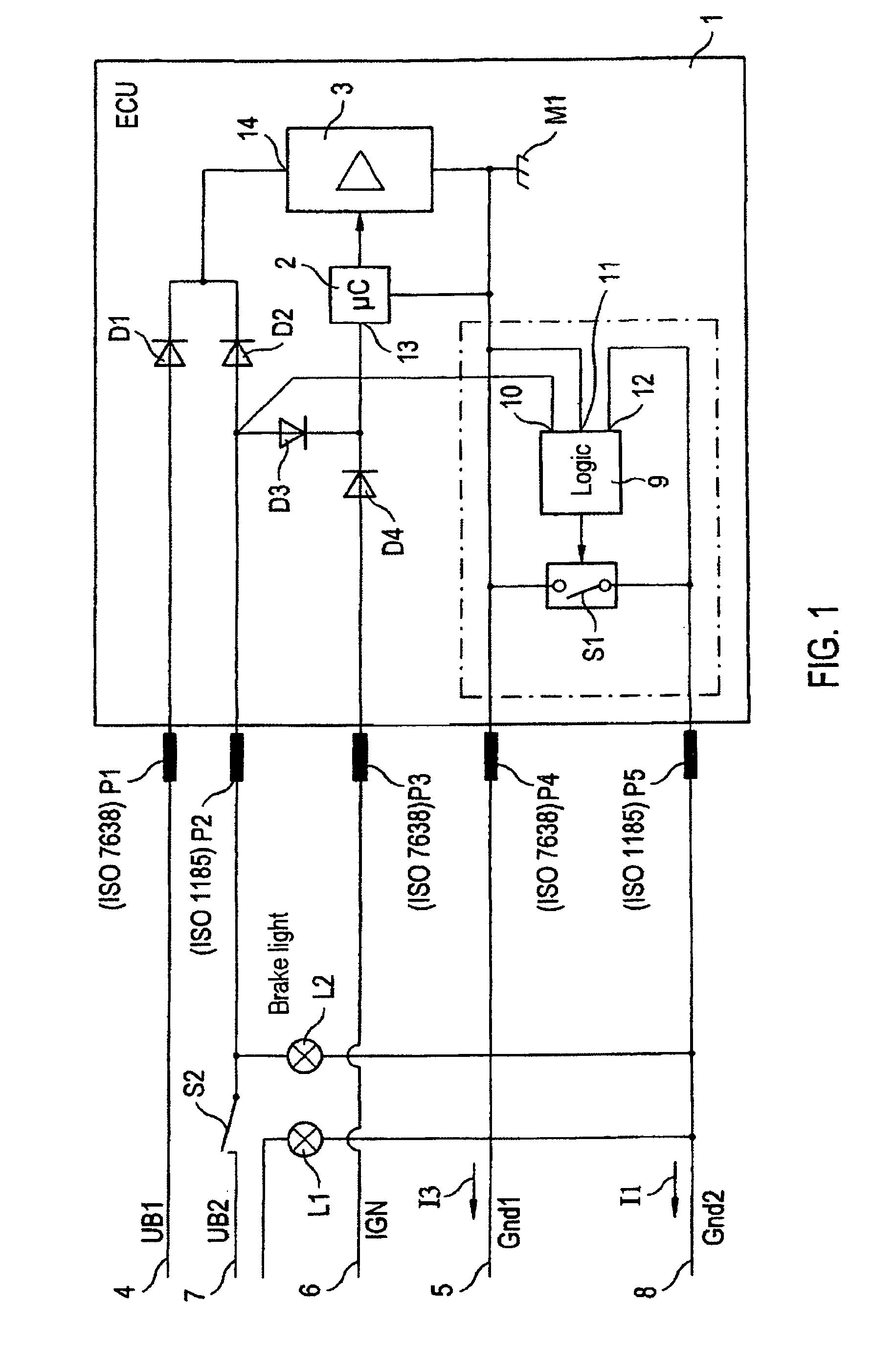 US08274174 20120925 D00001 patent us8274174 circuit arrangement for supplying power to iso 7638 wiring diagram at nearapp.co