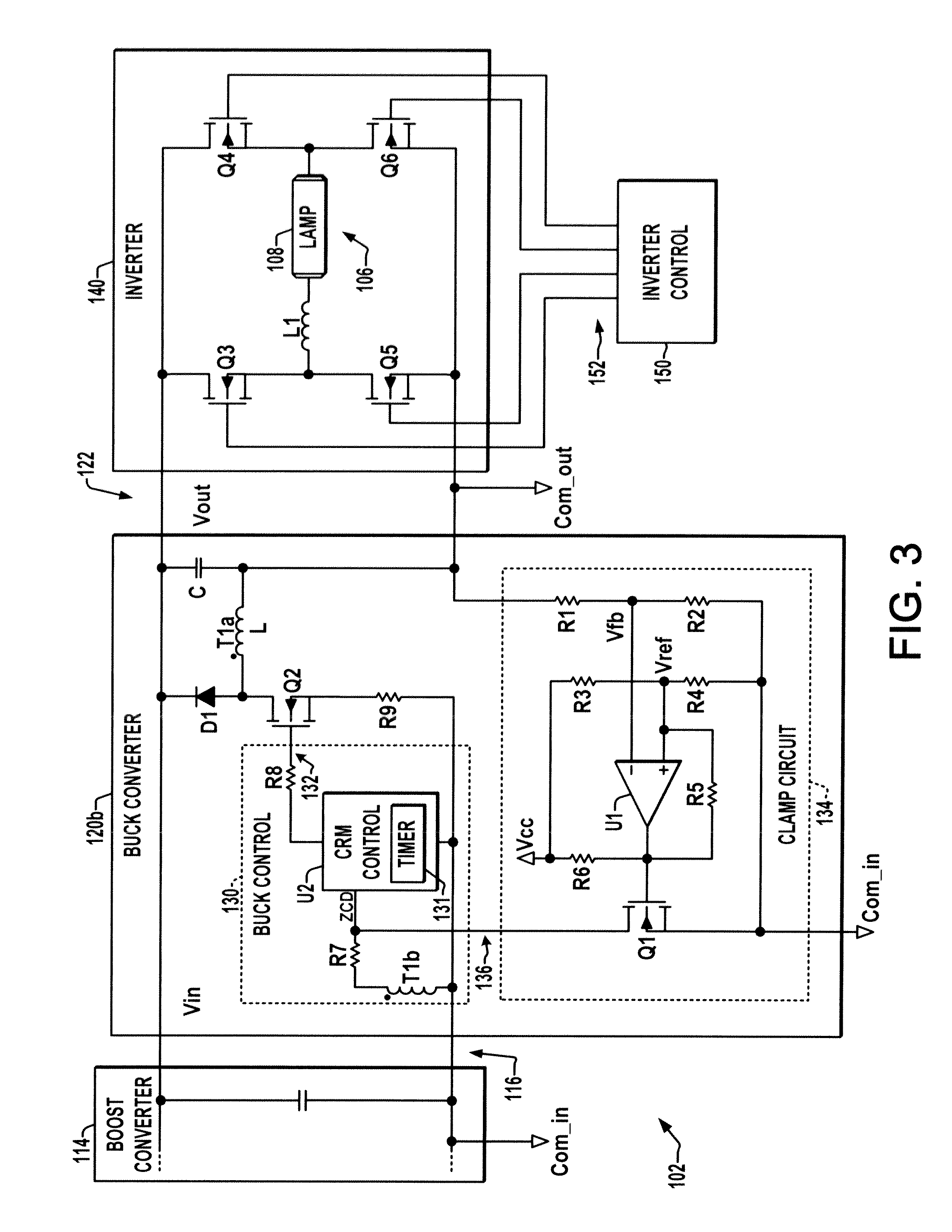 Patent Us8274239 Open Circuit Voltage Clamp For Electronic Hid Dc To Ac Inverter Moreover Buck Boost Converter Drawing