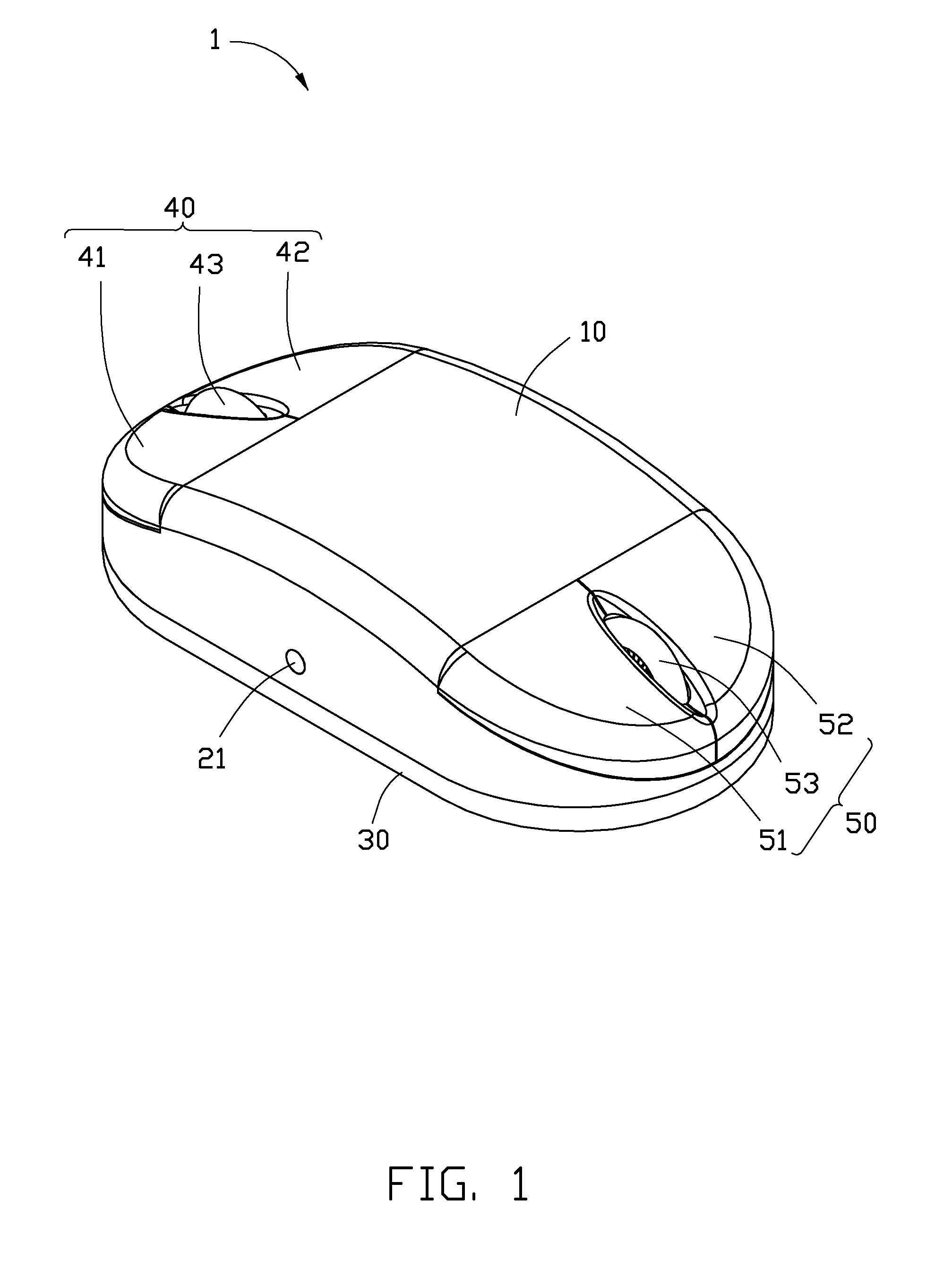 patent us8274477 - computer mouse