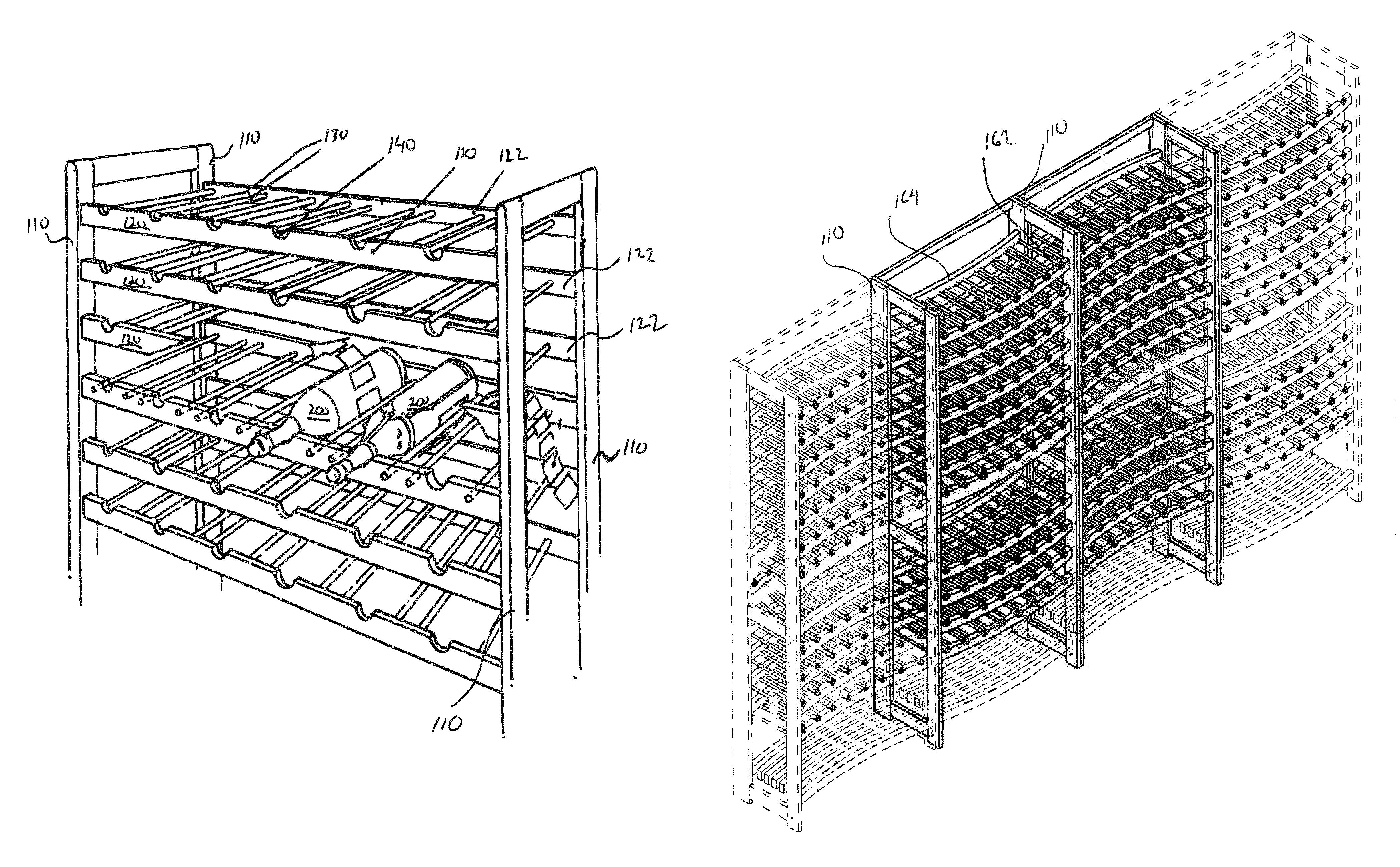 Wine Bottle Storage Angle Patent Us8276769 Wine Rack Google Patents