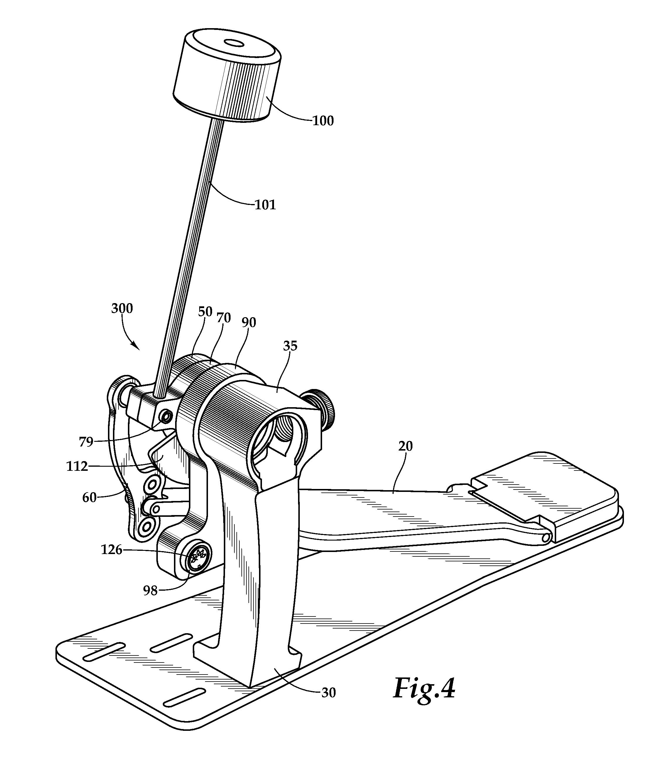 Patent US8278541 - Drum pedal with optical sensor - Google ...