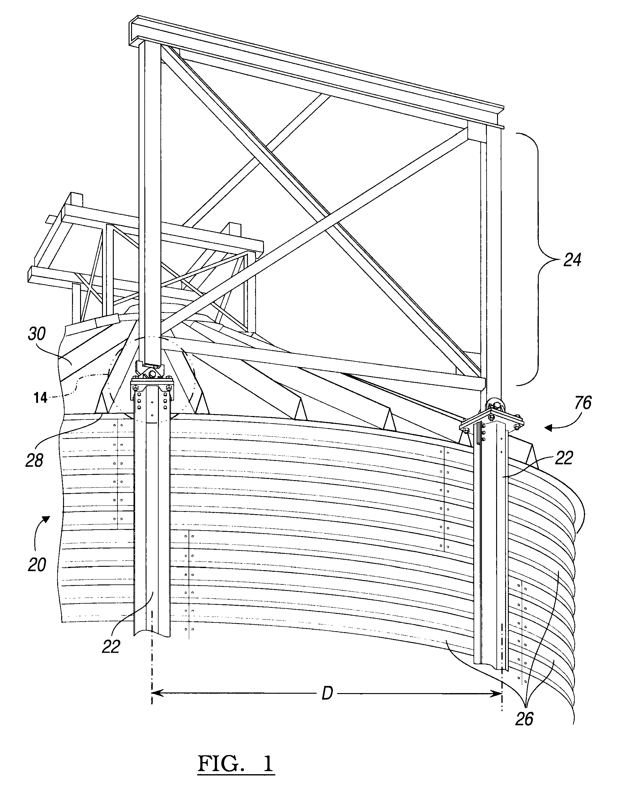 patent us8286394 integral catwalk support google patents patent drawing