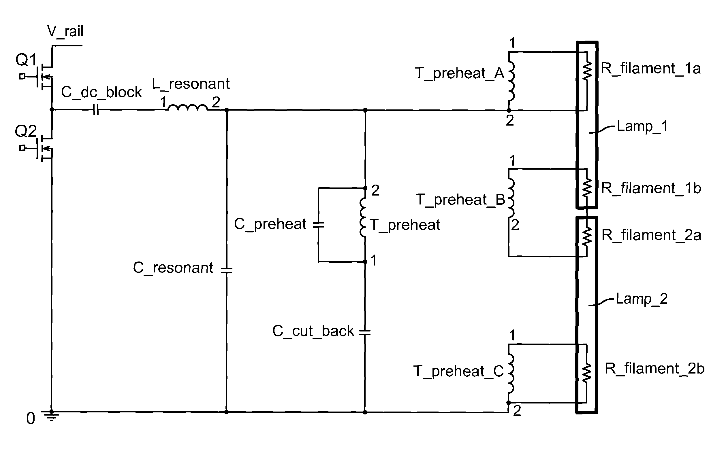 US08288956 20121016 D00000 patent us8288956 lamp preheat circuit for a program start programmed start ballast wiring diagram at fashall.co