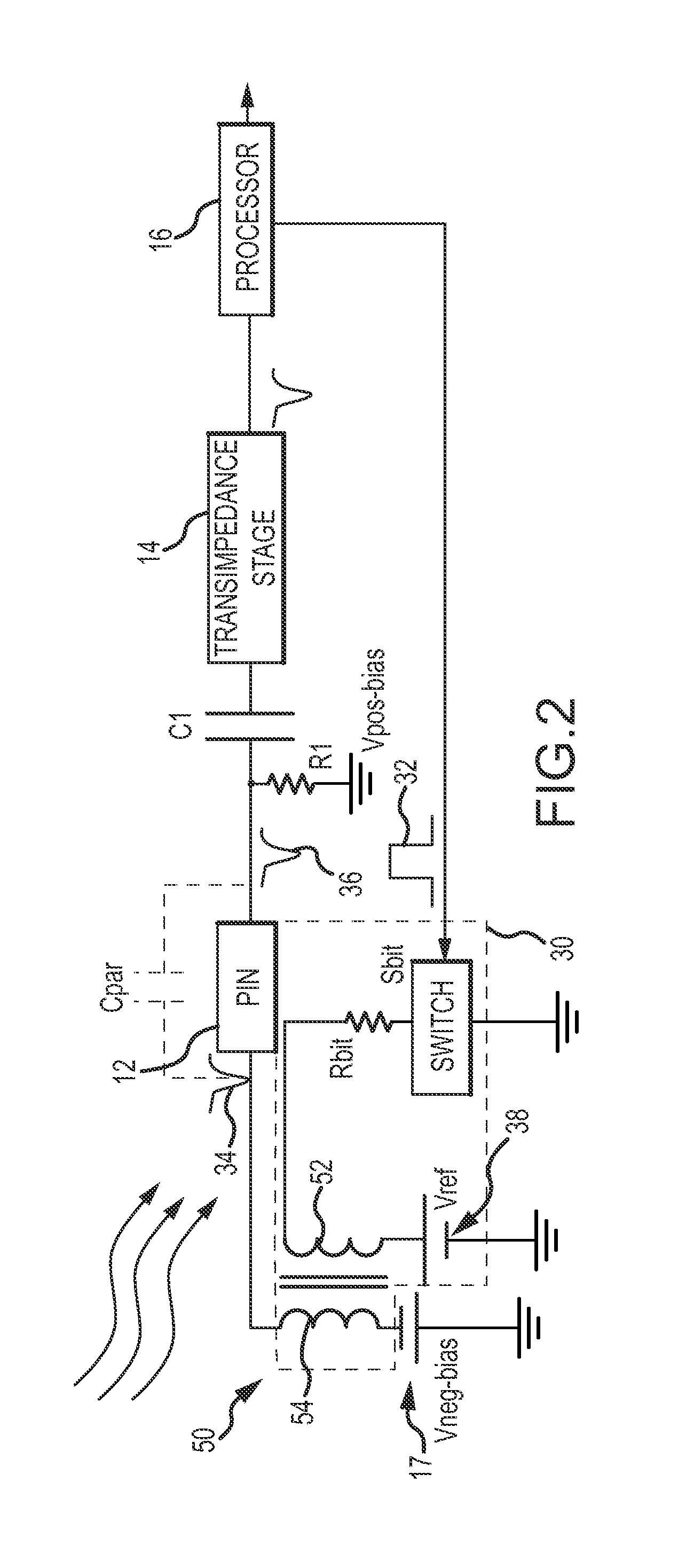 Patent Us8290726 Photoconductive Photodiode Built In Test Bit Figure 3 Transimpedance Circuit Converting A Current Into Drawing