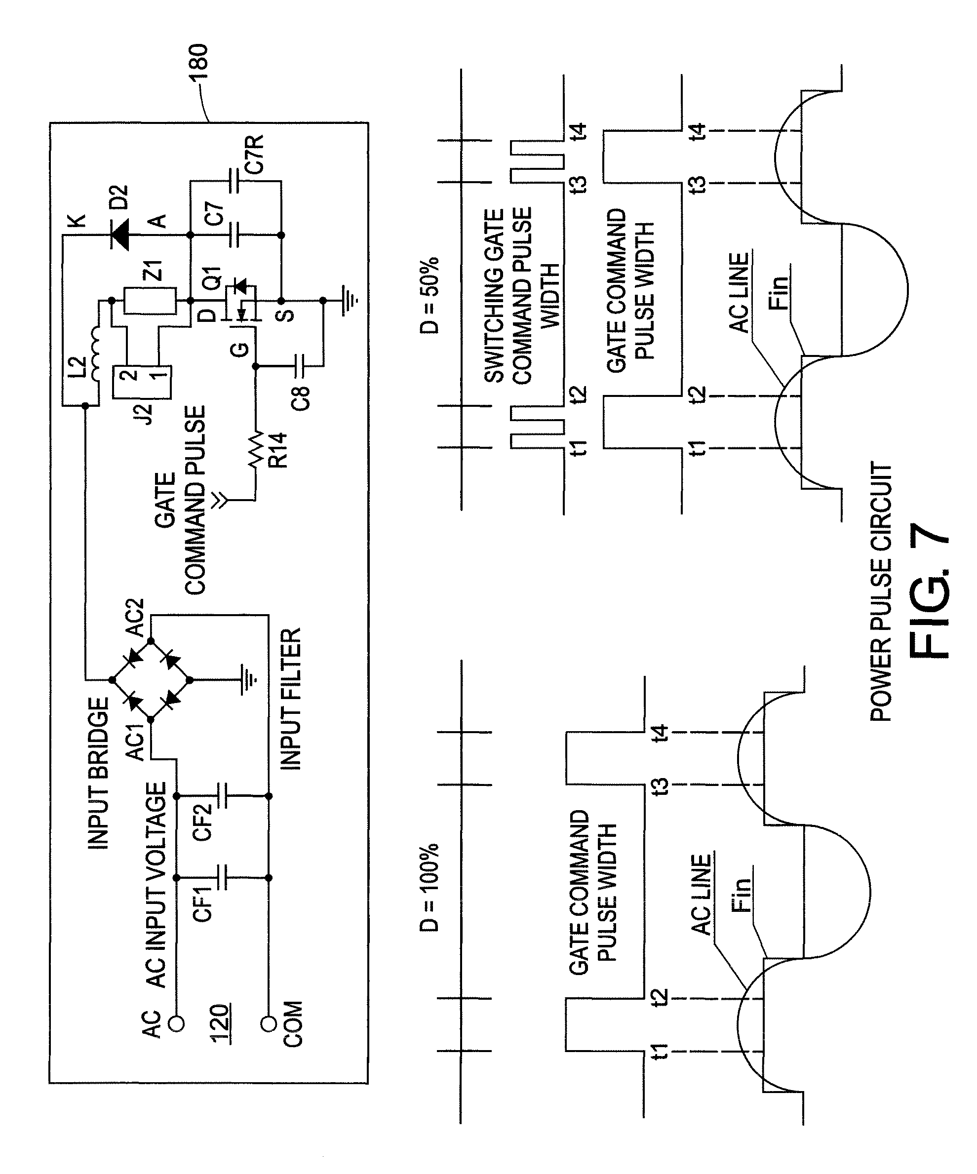 patent us8294371 - led traffic signal with synchronized power pulse circuit