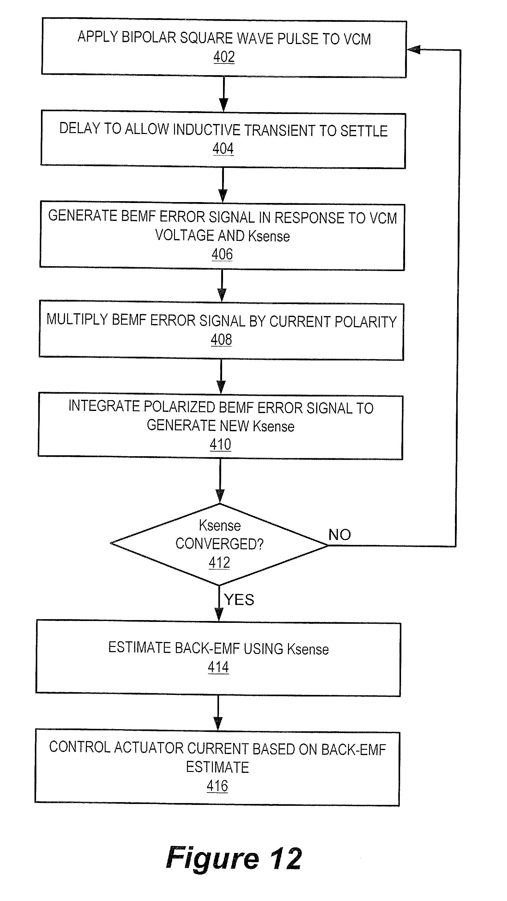 Patent us8294400 closed loop calibration of back emf measurement patent drawing robcynllc Choice Image