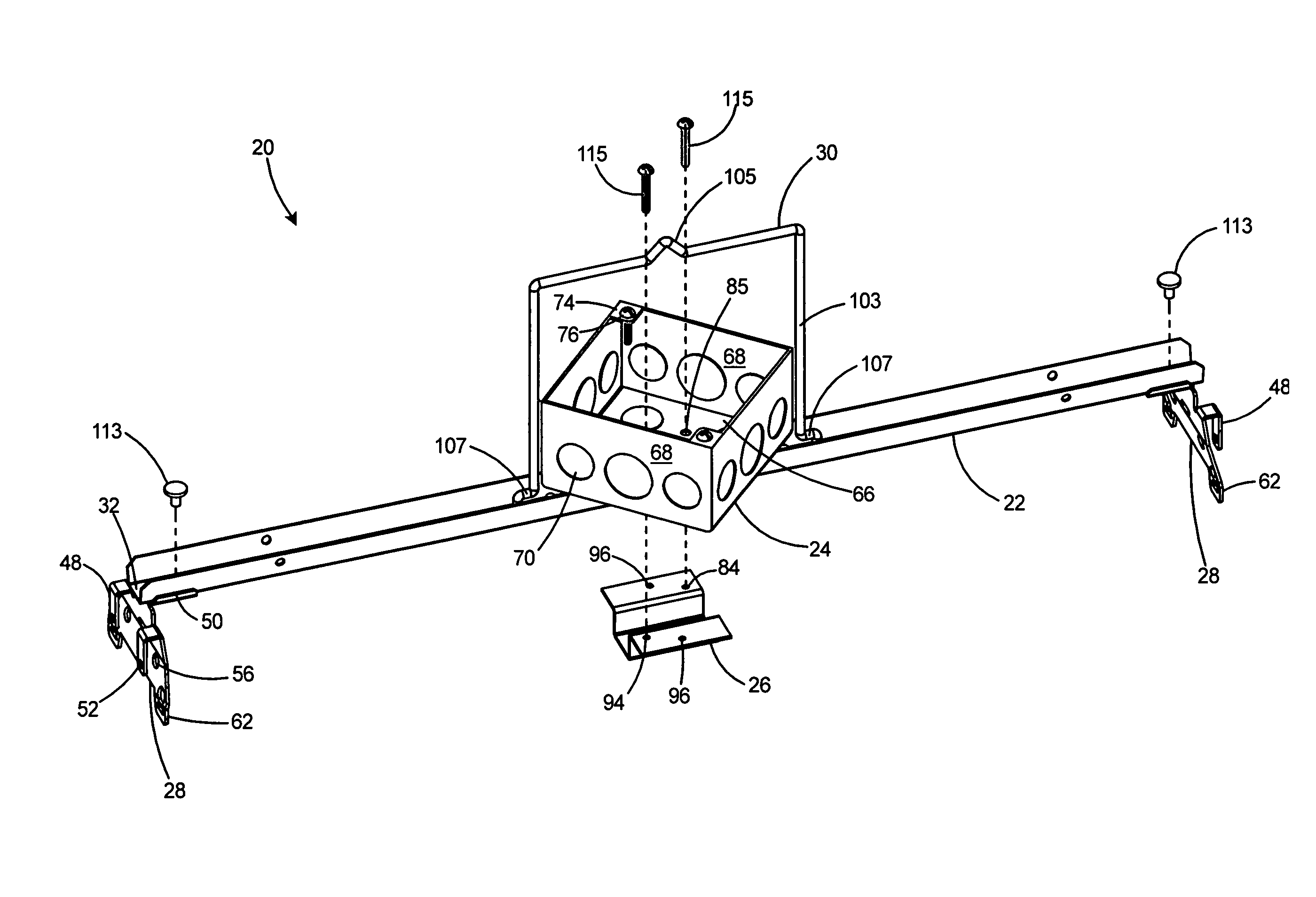 ... box hanger assembly for a suspended ceiling - Google Patents