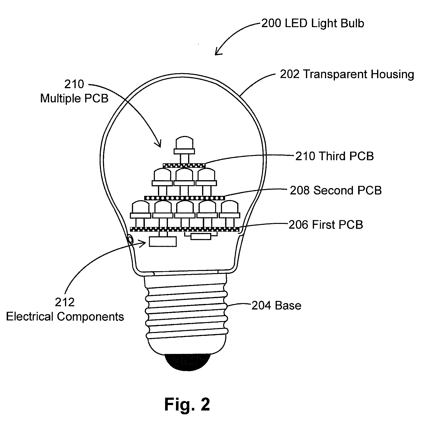 Patent US8297787 - LED light bulbs in pyramidal structure for ...