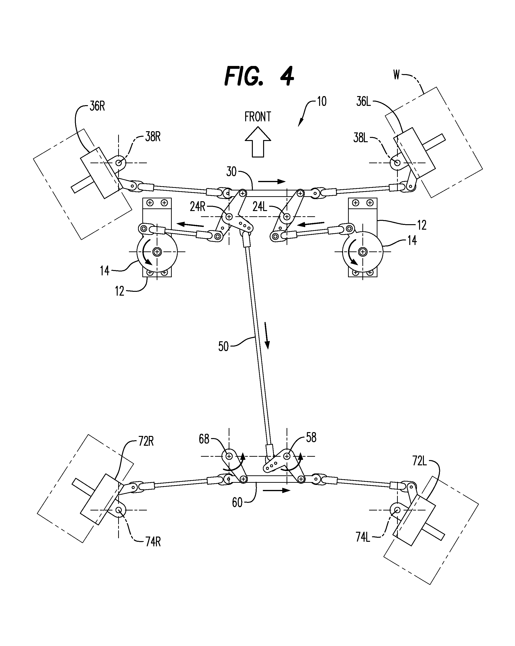 Patent us8302728 four wheel steering system for radio for Benetton 4 wheel steering