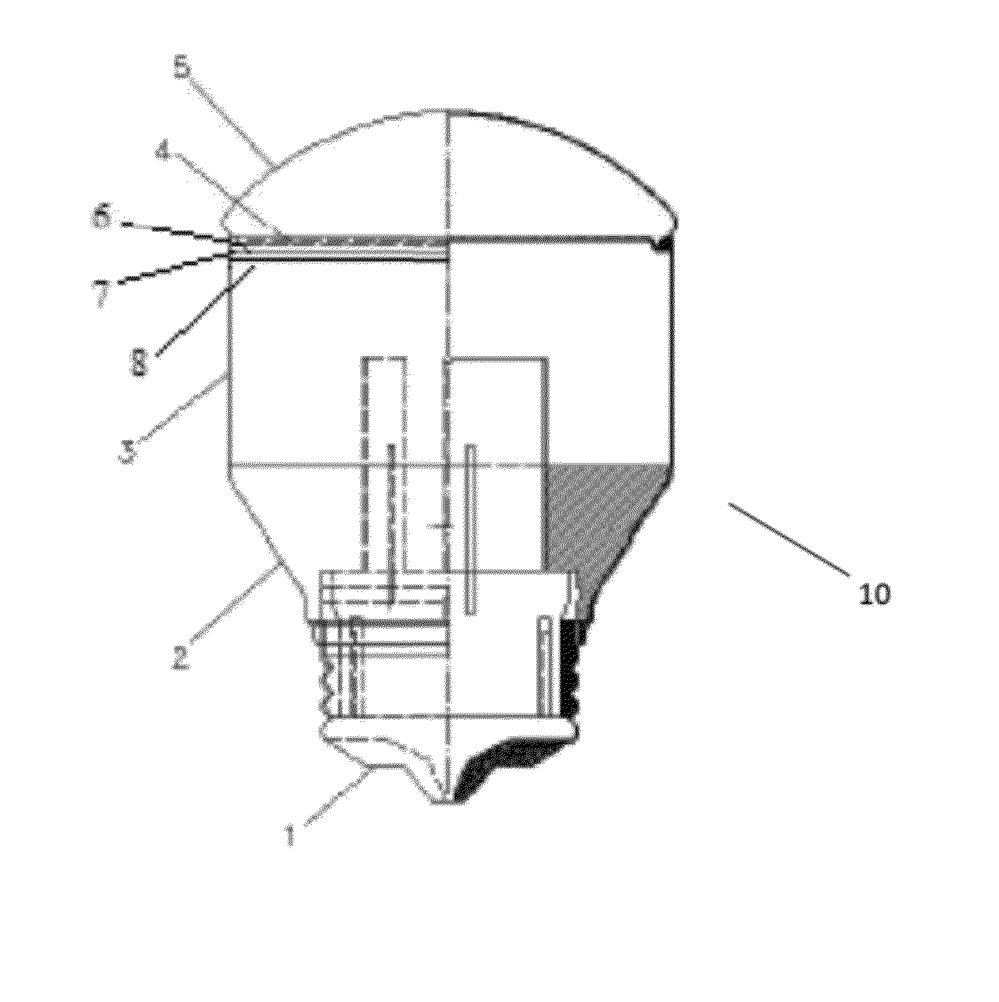 Brevet Us8310139 Led Lamps Using Recycled Metal Containers As Heat Recycledcircuitboardlamp Patent Drawing