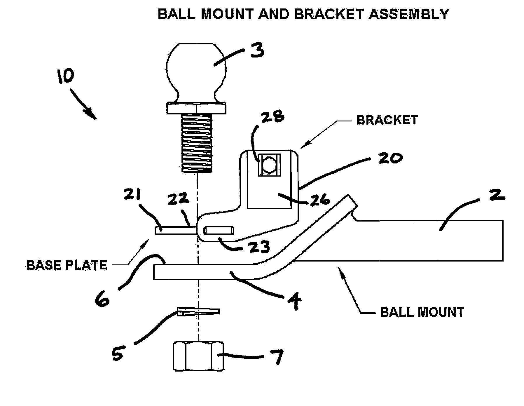 Patent US8313119 - Combined trailer hitch coupler guide and ...
