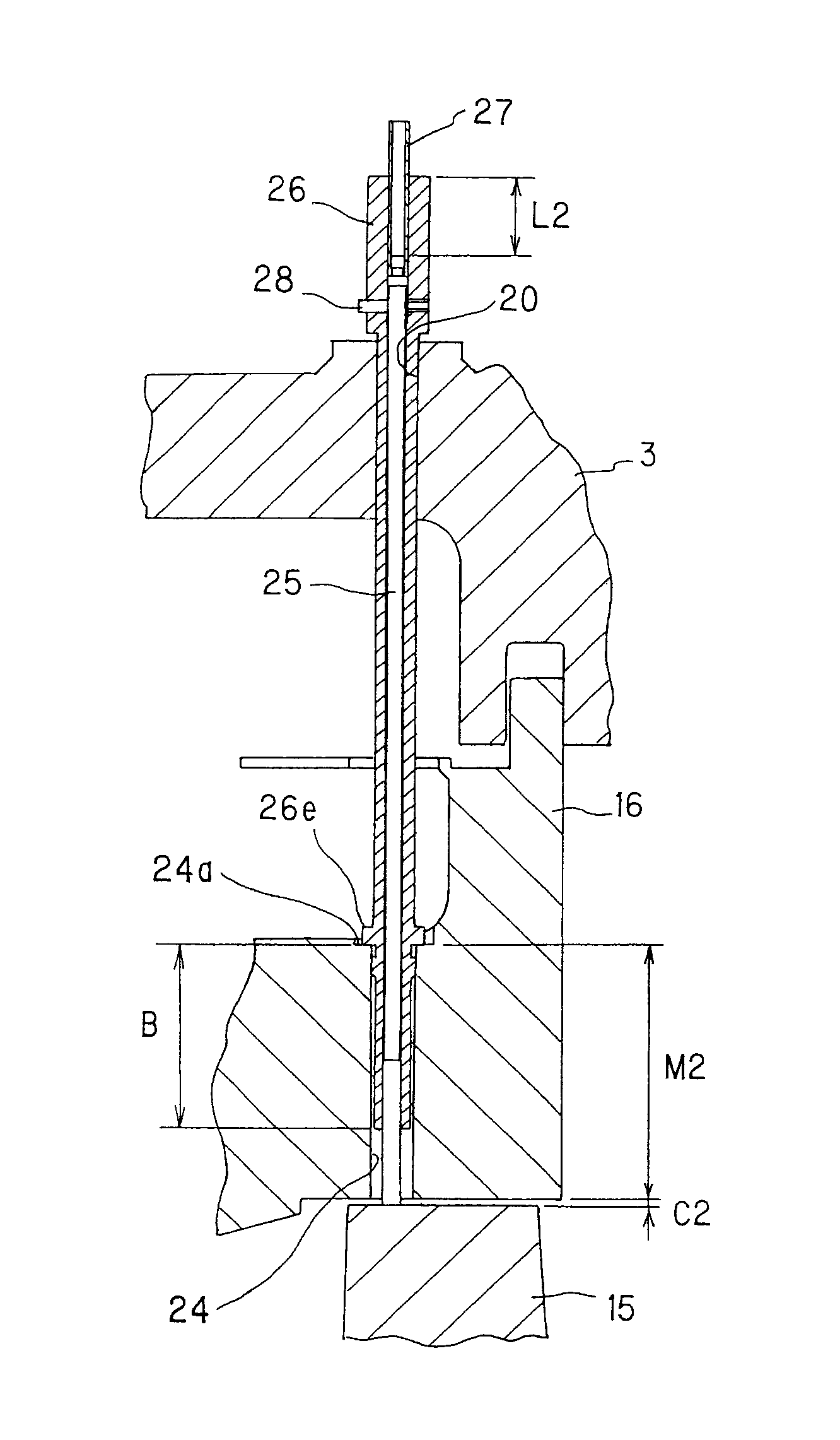 Patent US Vane tip clearance management structure for gas