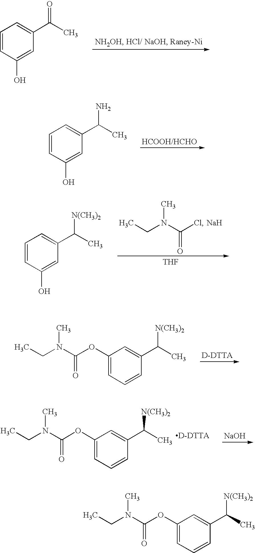 Exelon patch dosage forms