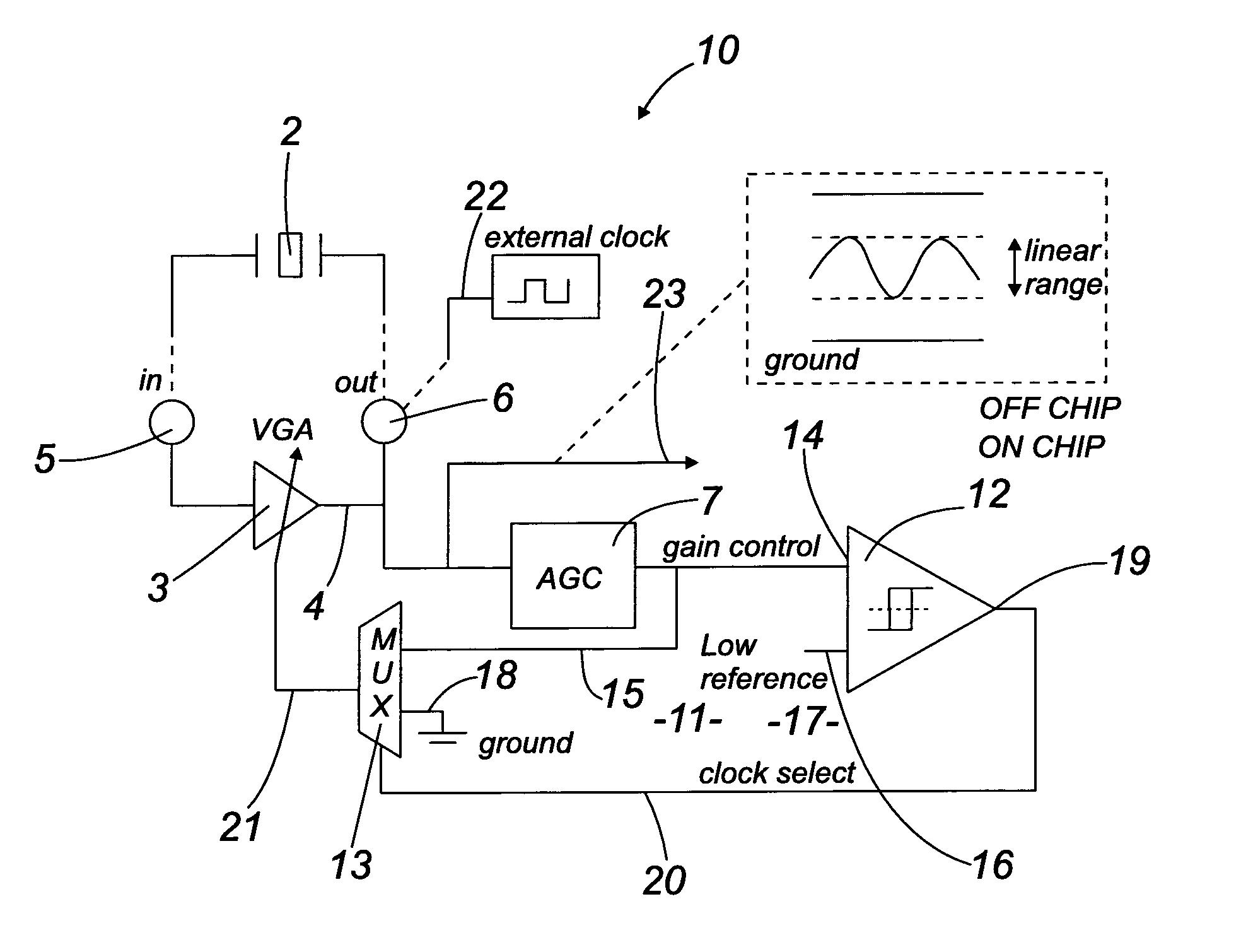 patent us8324978 - crystal oscillator clock circuit