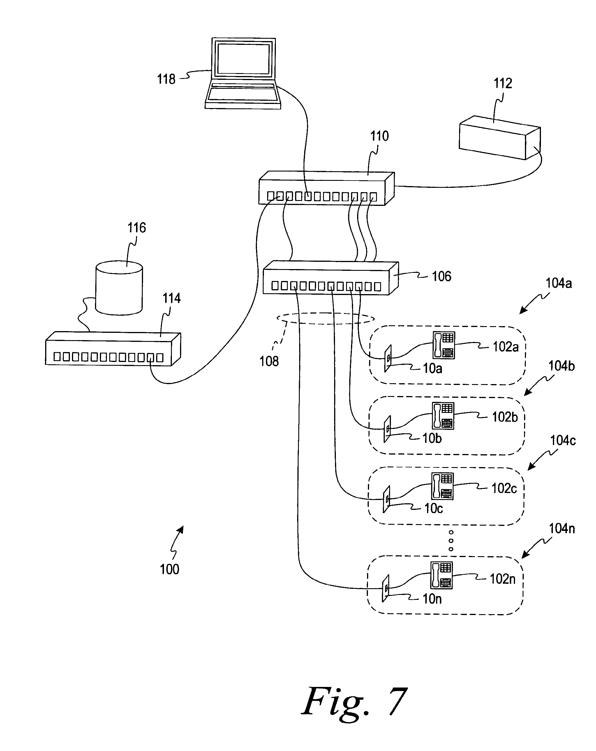 patent us8325770 network managed device installation and on lan wall jack schematic