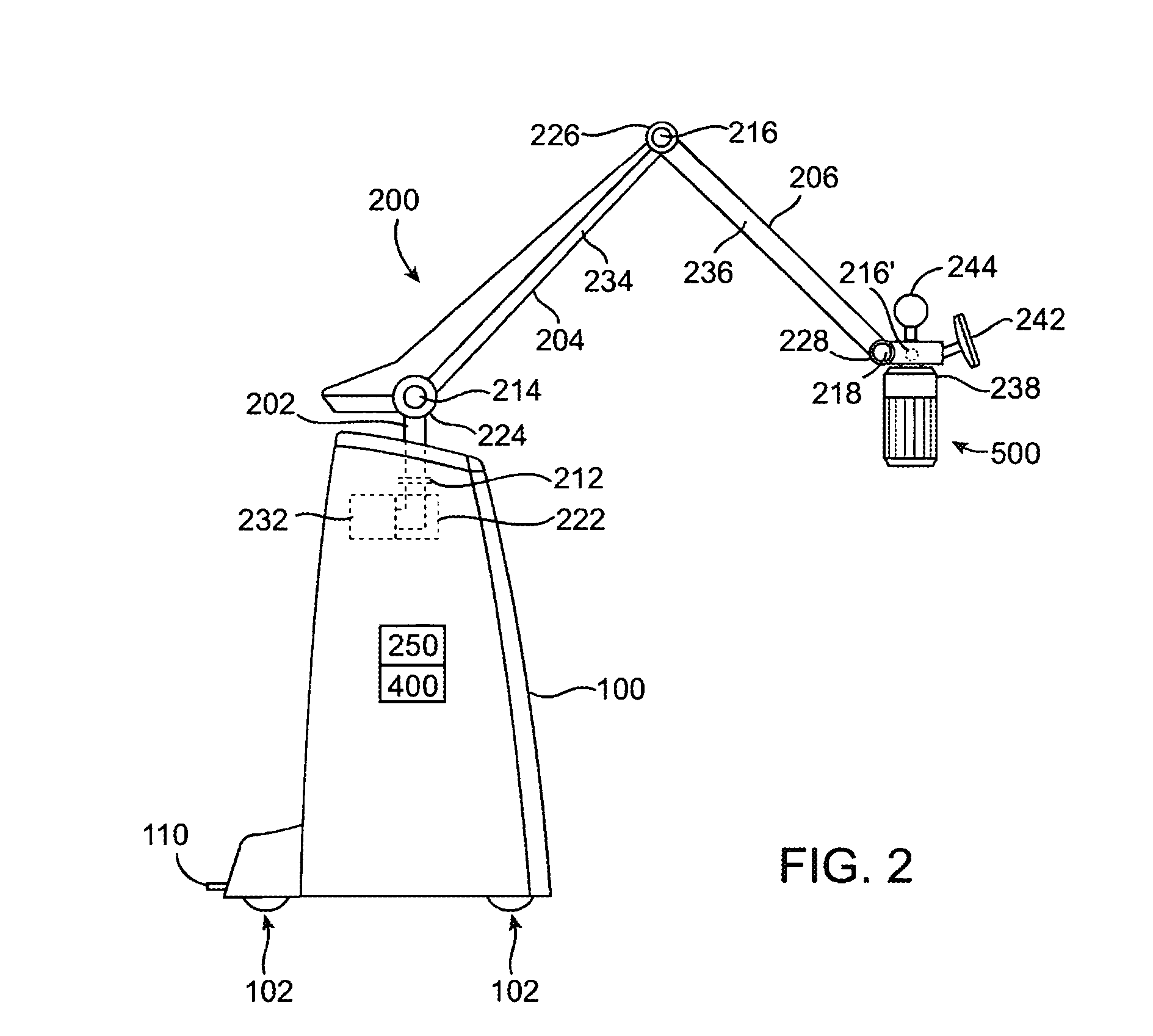 Articulated Arm Ultrasound : Patent us articulating arm for medical procedures