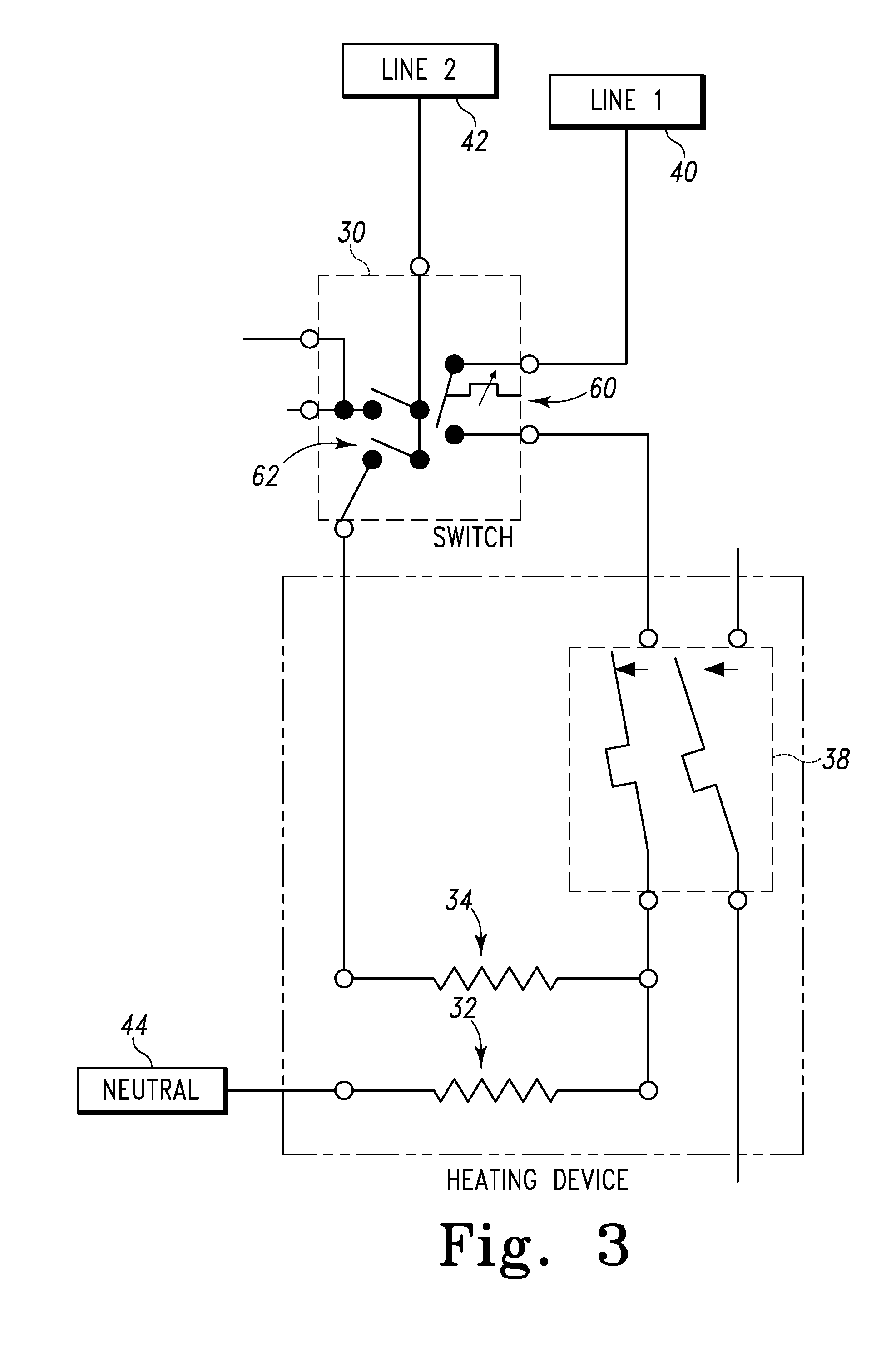 patent us8344292 rotary switch improved simmer performance patent drawing