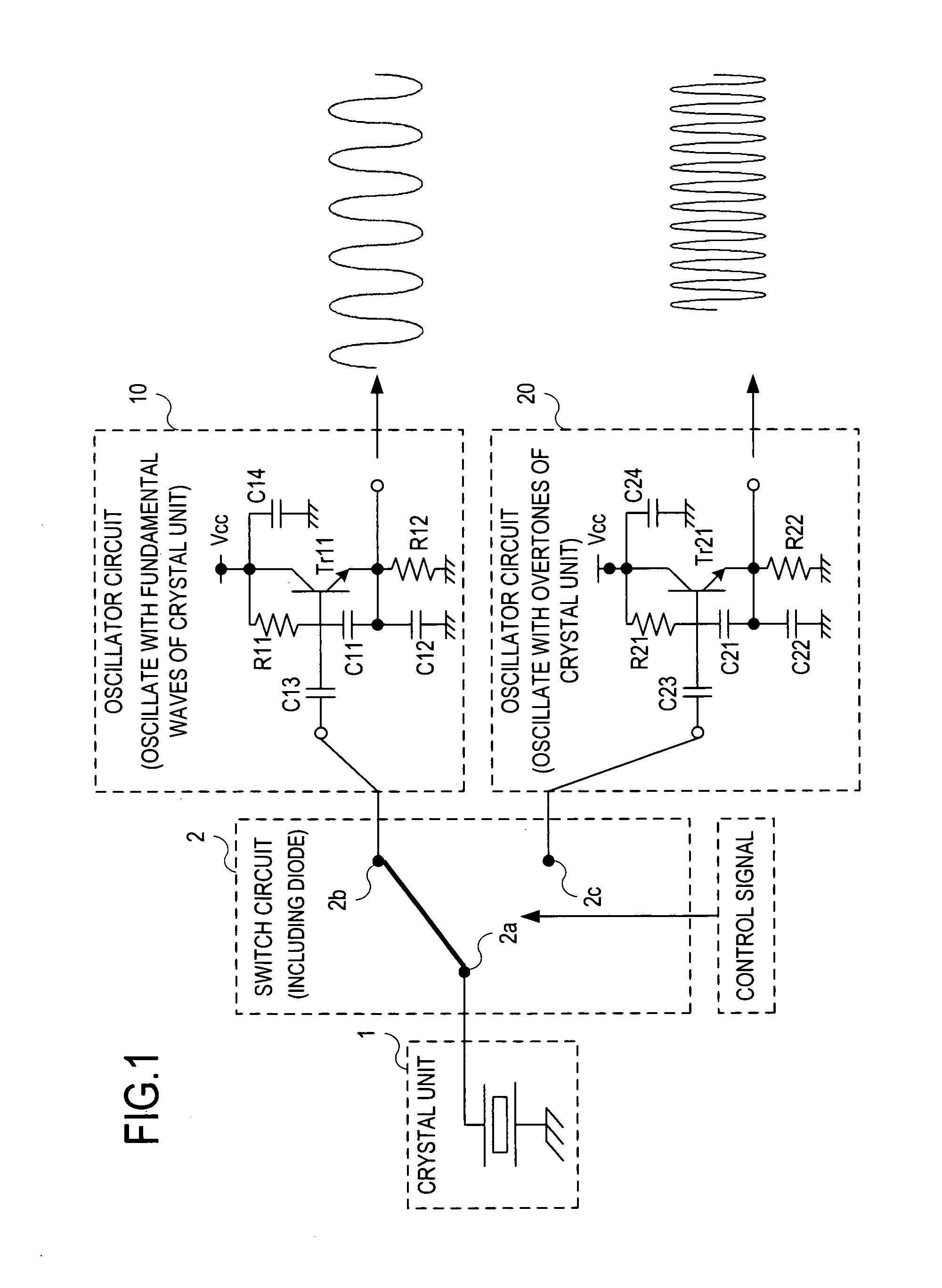 patent us8344816 - fundamental wave  overtone crystal oscillator