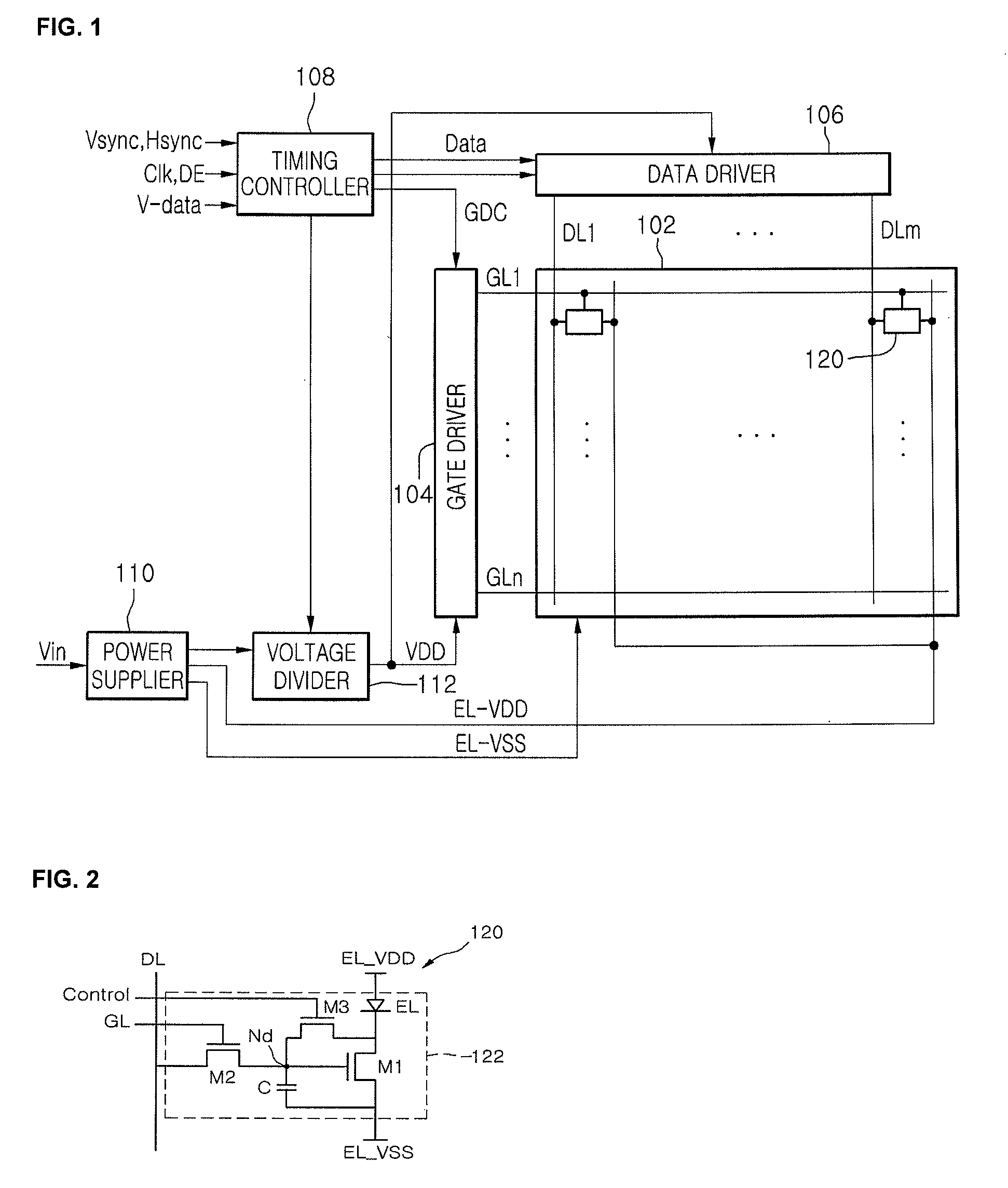 Patent Us8344974 Voltage Divider For Supplying A Reduced Controlling Drawing